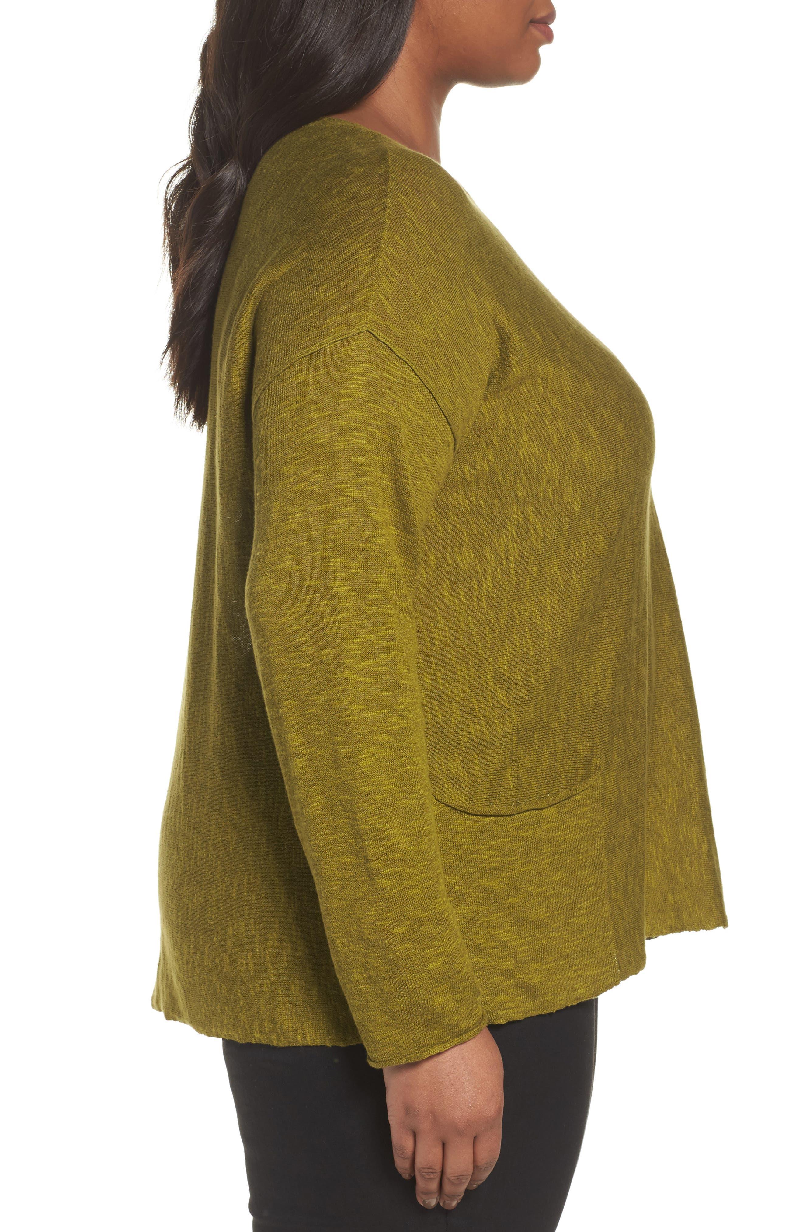 Organic Linen & Cotton Sweater,                             Alternate thumbnail 3, color,                             201