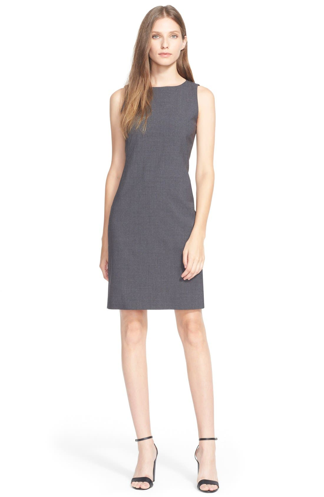 'Betty.2B' Stretch Wool Sheath Dress,                             Main thumbnail 1, color,                             020