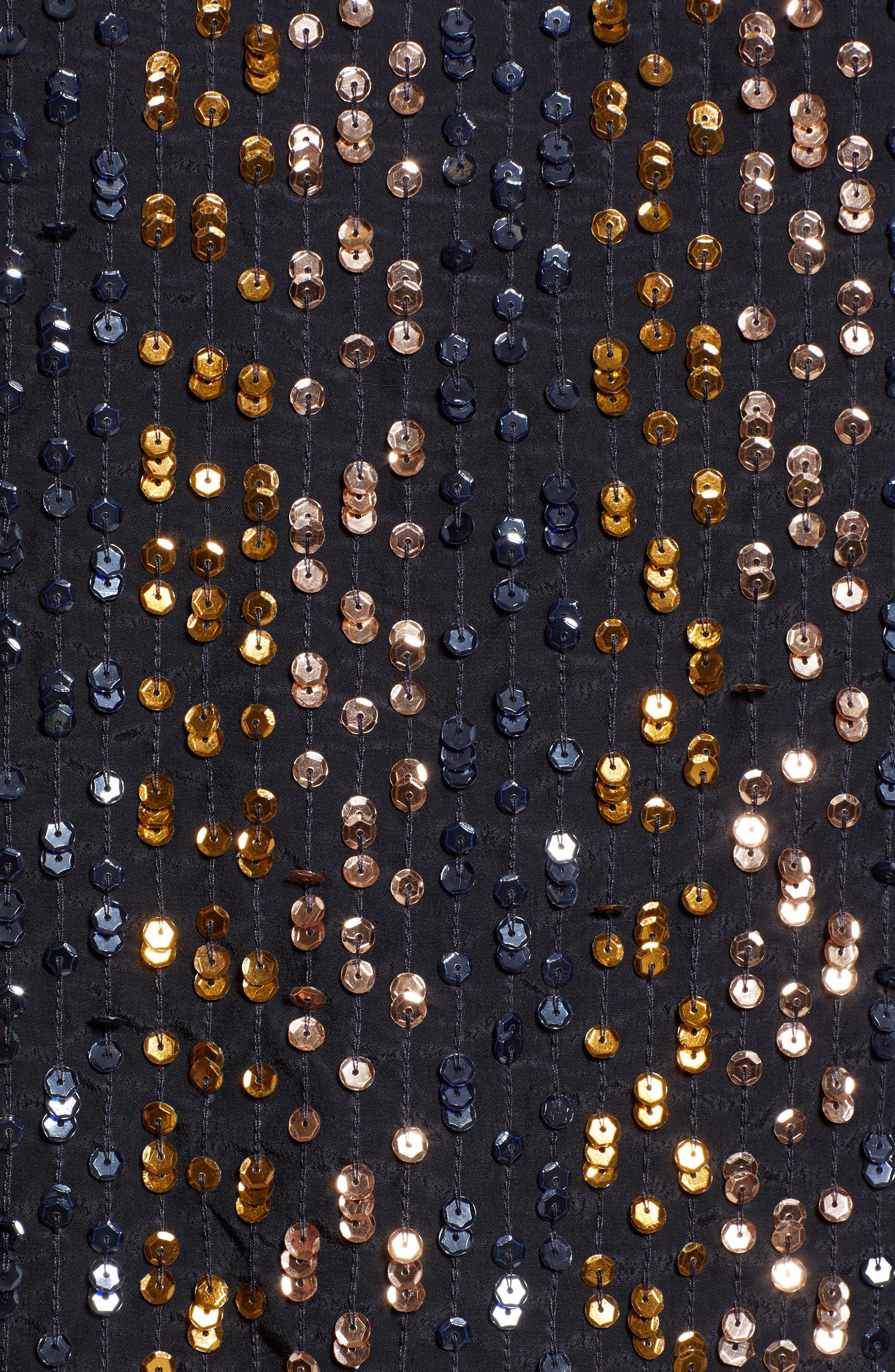 Allover Stripe Sequin Top,                             Alternate thumbnail 5, color,                             MULTI