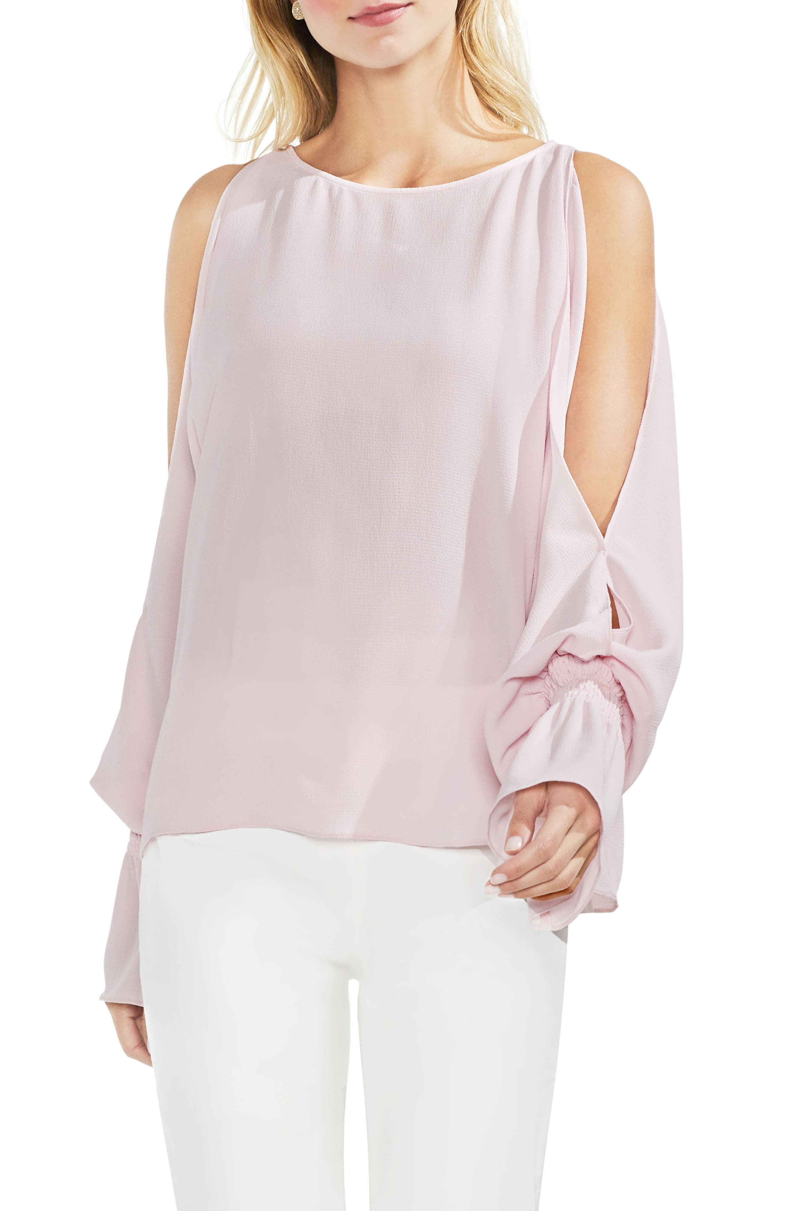 Cold Shoulder Flare Cuff Top,                             Main thumbnail 6, color,