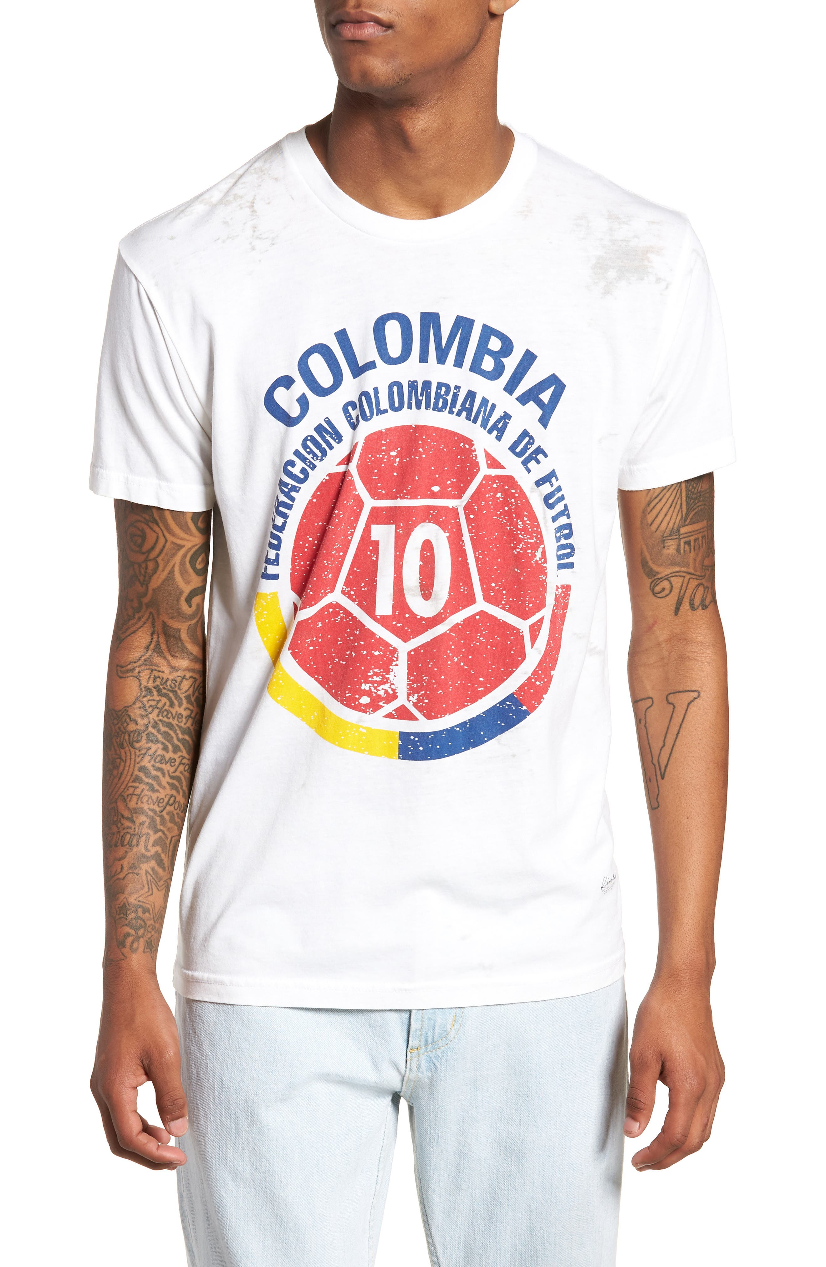 Colombia Jersey T-Shirt,                             Main thumbnail 1, color,                             100