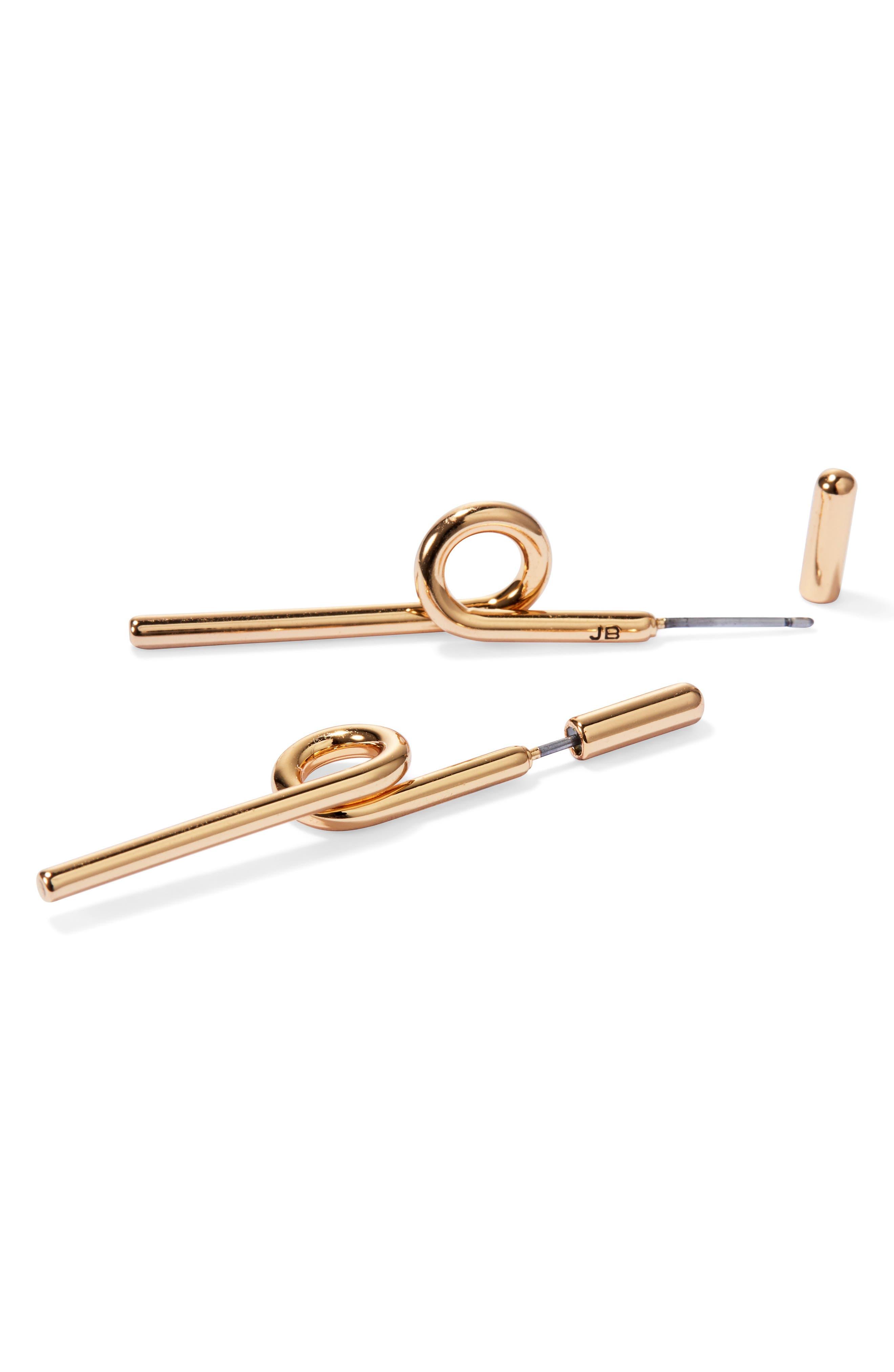 Otis Stick Earrings,                             Alternate thumbnail 4, color,                             GOLD