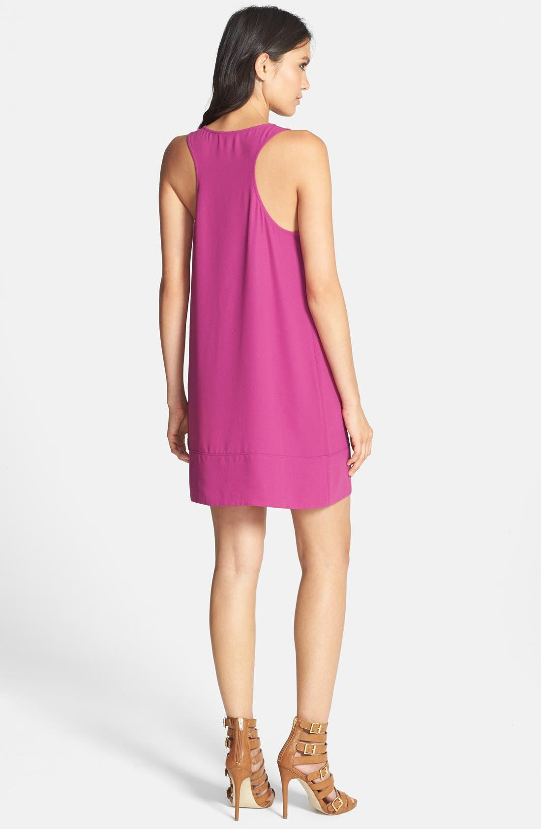 Racerback Shift Dress,                             Alternate thumbnail 77, color,