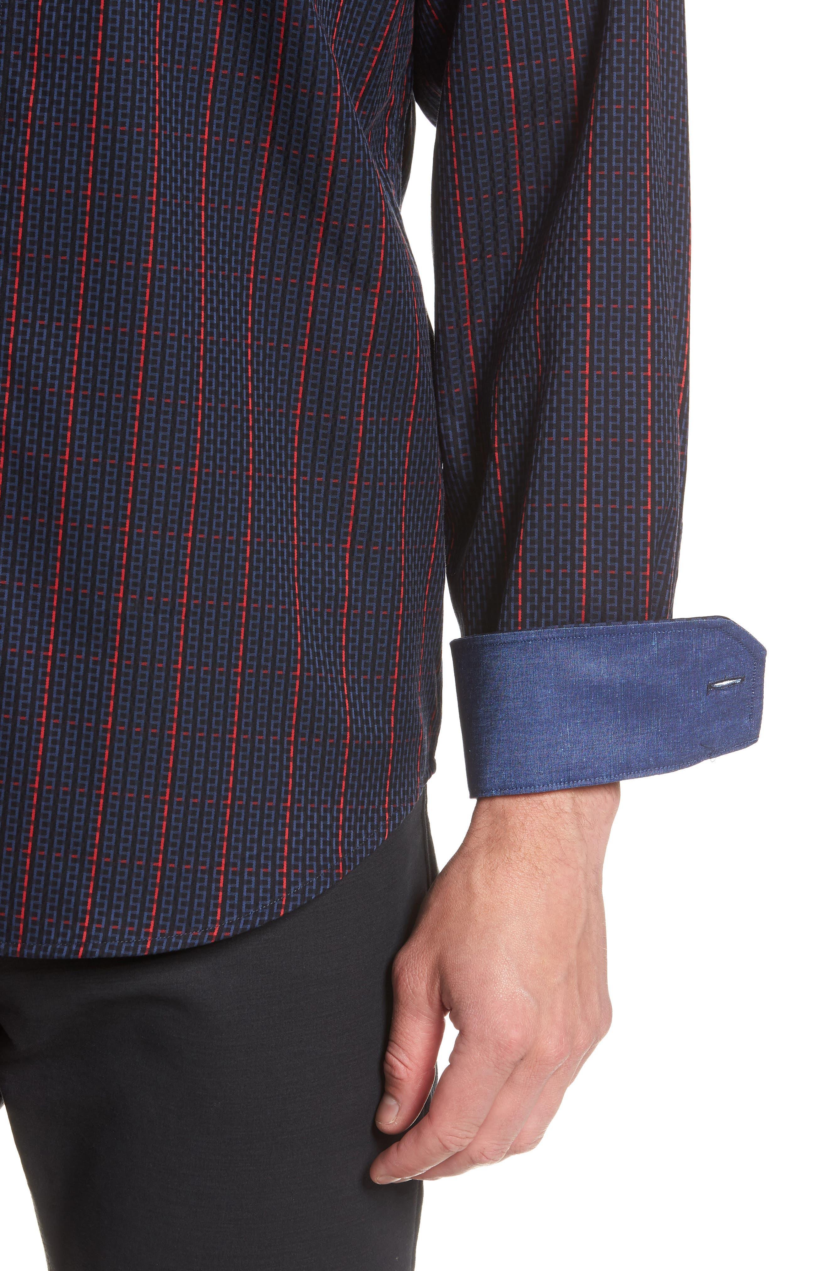 Classic Fit Woven Sport Shirt,                             Alternate thumbnail 2, color,                             NIGHT BLUE