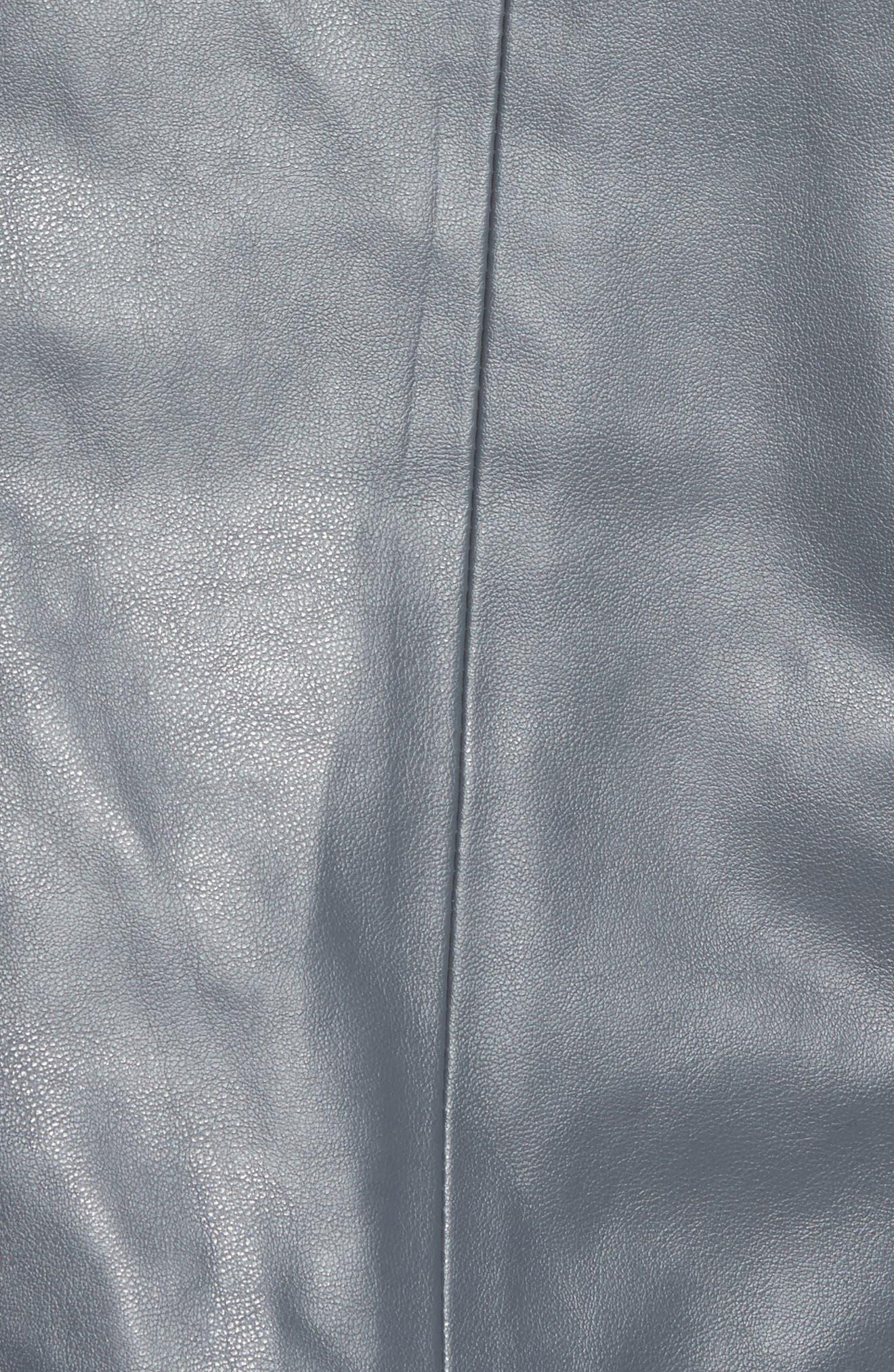 'Peppin' Drape Front Faux Leather Jacket,                             Alternate thumbnail 40, color,