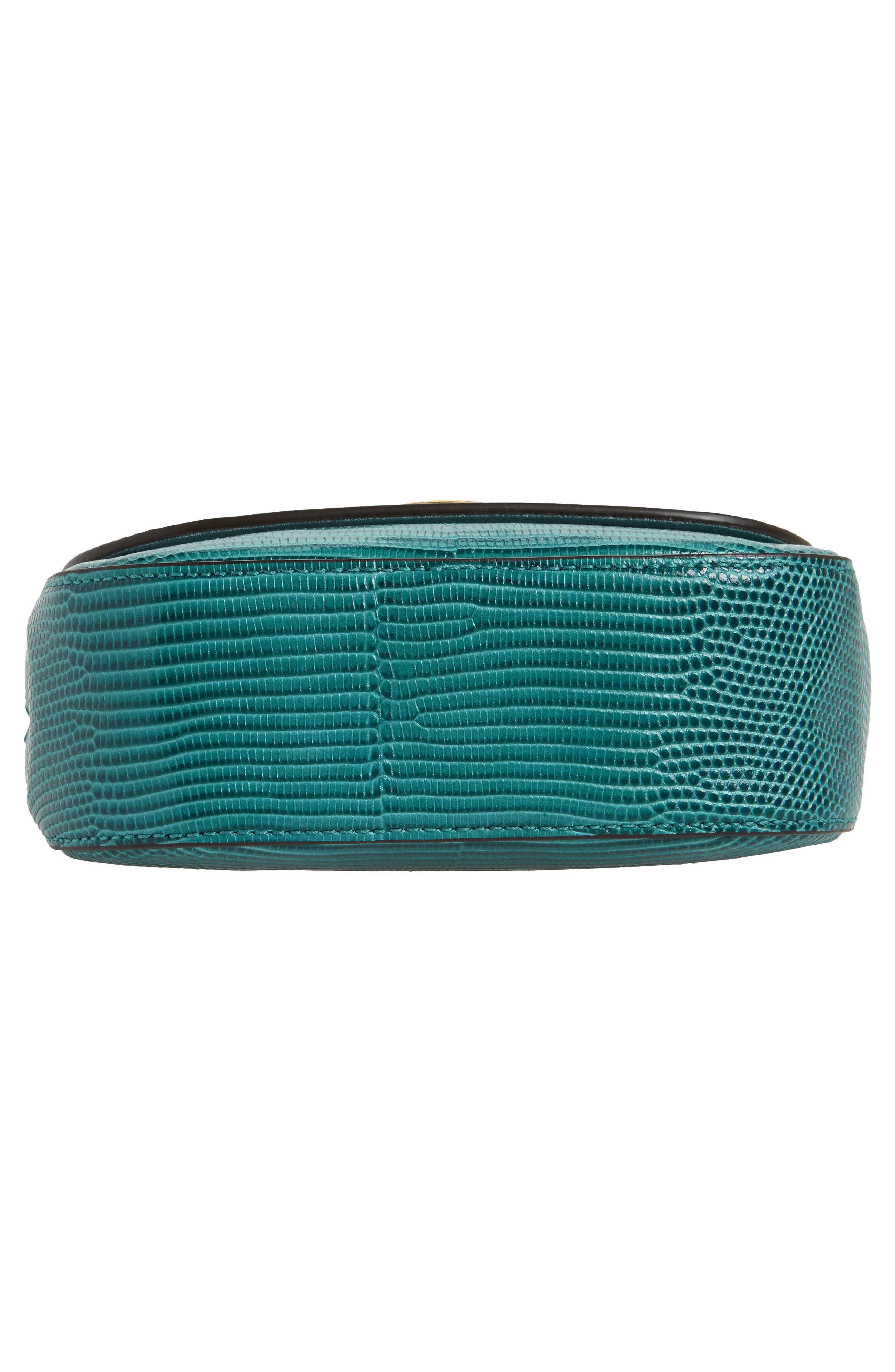 Mini Amberley Reptile Embossed Leather Crossbody Bag,                             Alternate thumbnail 6, color,                             401