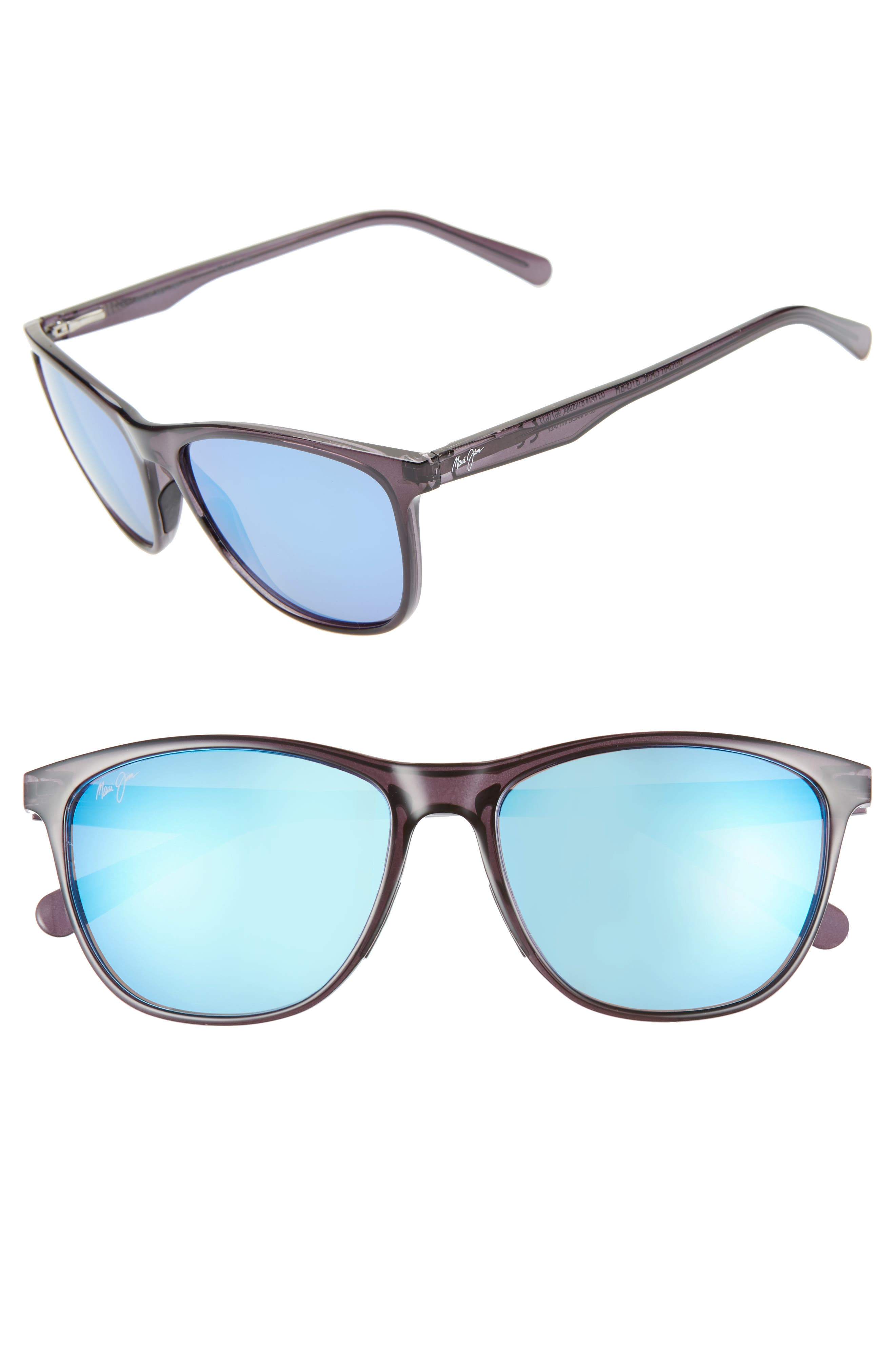 Sugar Cane 57Mm Polarizedplus2 Sunglasses - Transparent Grey/ Blue Hawaii
