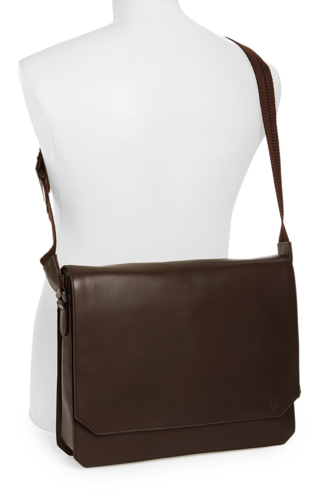 'Tolve' Leather Messenger Bag,                             Alternate thumbnail 2, color,                             210