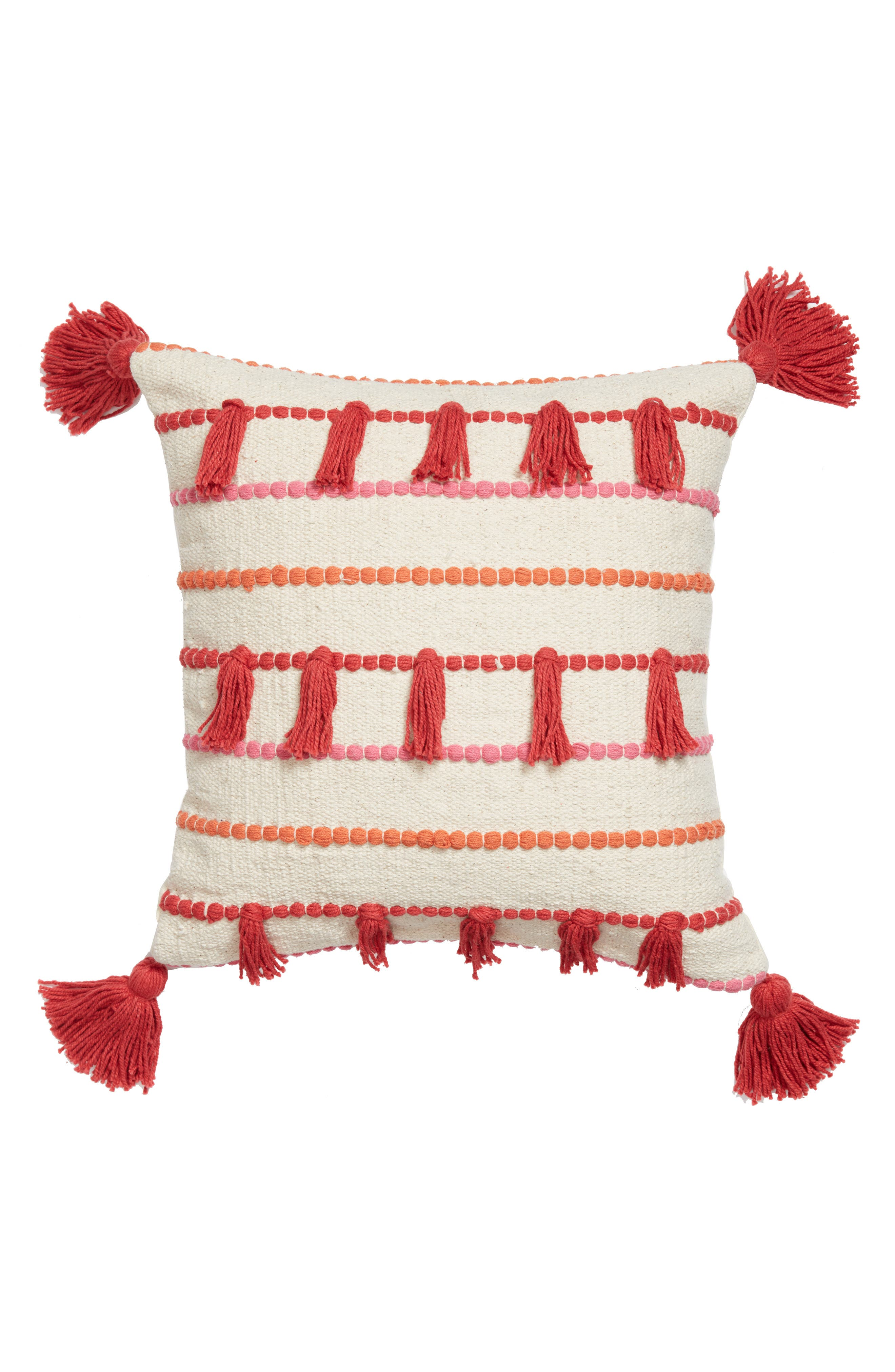 BRENTWOOD ORIGINALS Knotted Tassel Accent Pillow, Main, color, 250