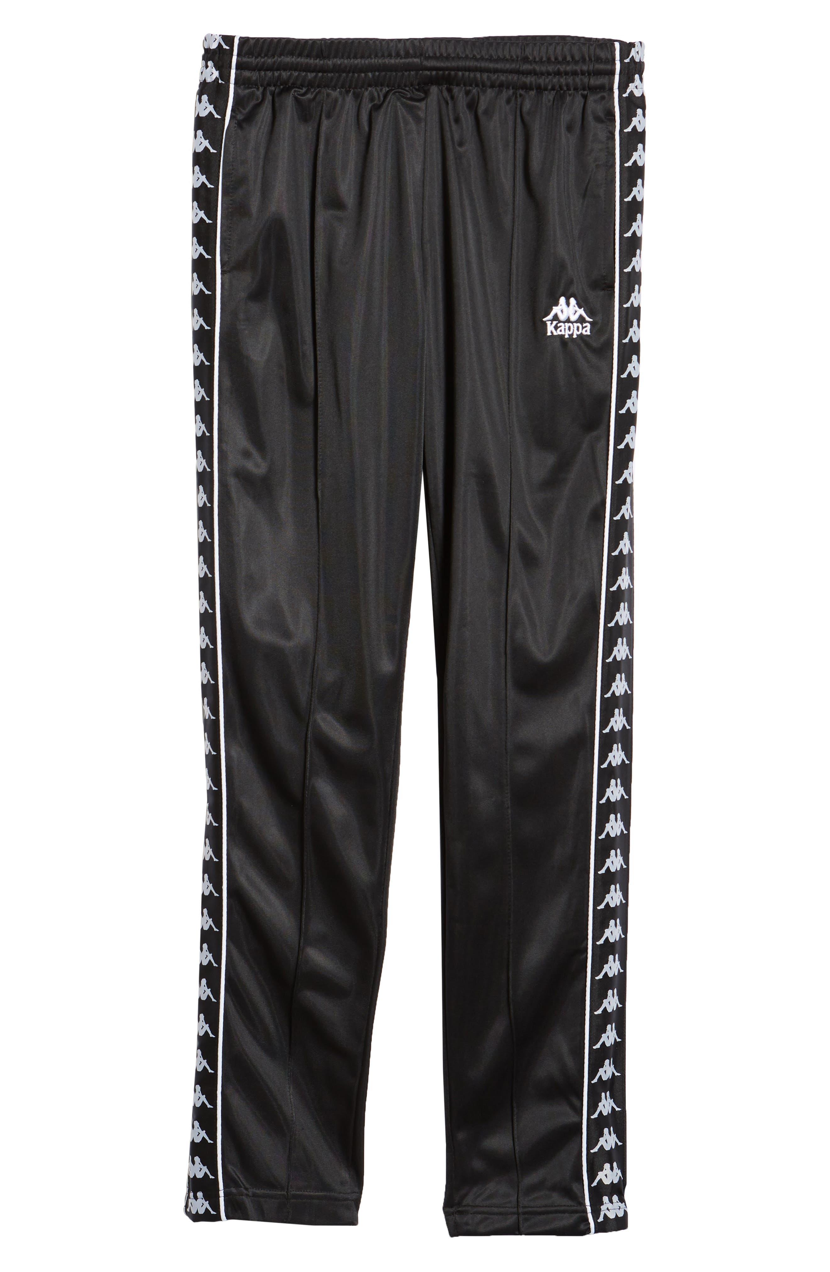 Authentic Fairfax Side Stripe Slim Track Pants,                             Alternate thumbnail 6, color,                             BLACK/ WHITE