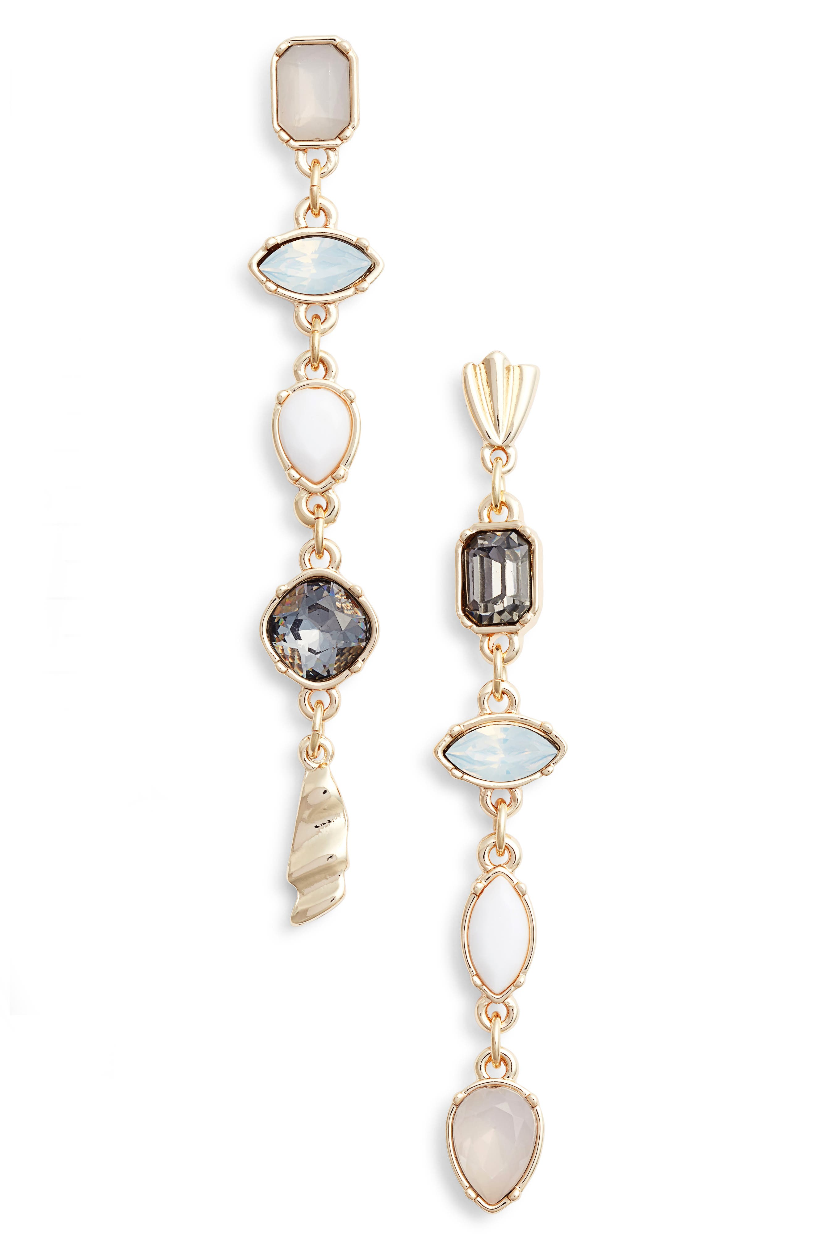 Mix Shape Stone Drop Earrings,                         Main,                         color,