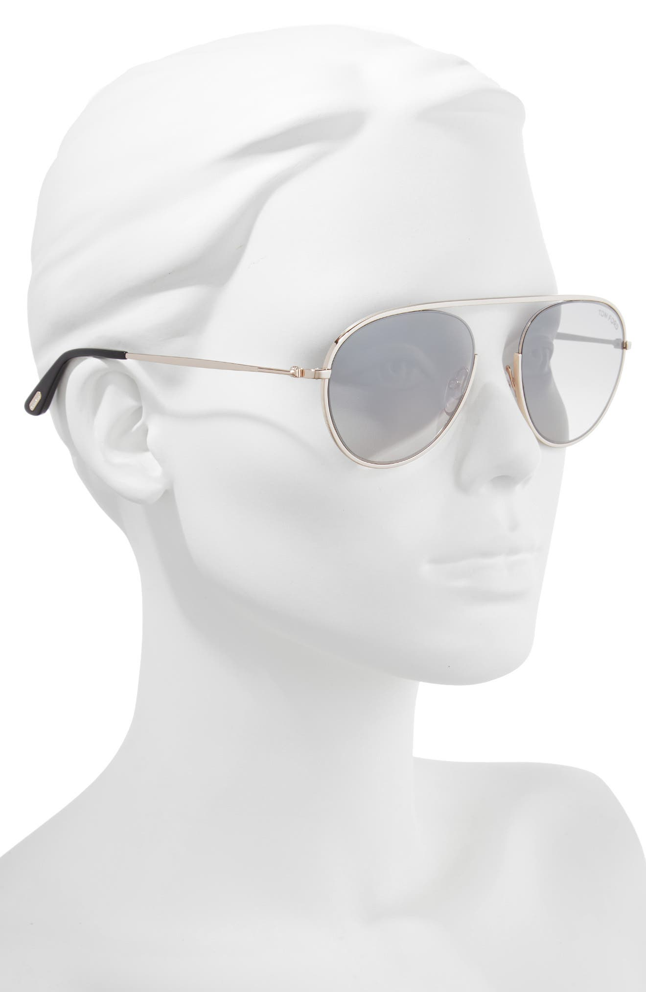 Keith 55mm Metal Aviator Sunglasses,                             Alternate thumbnail 2, color,                             ROSE GOLD/ SMOKE/ SILVER