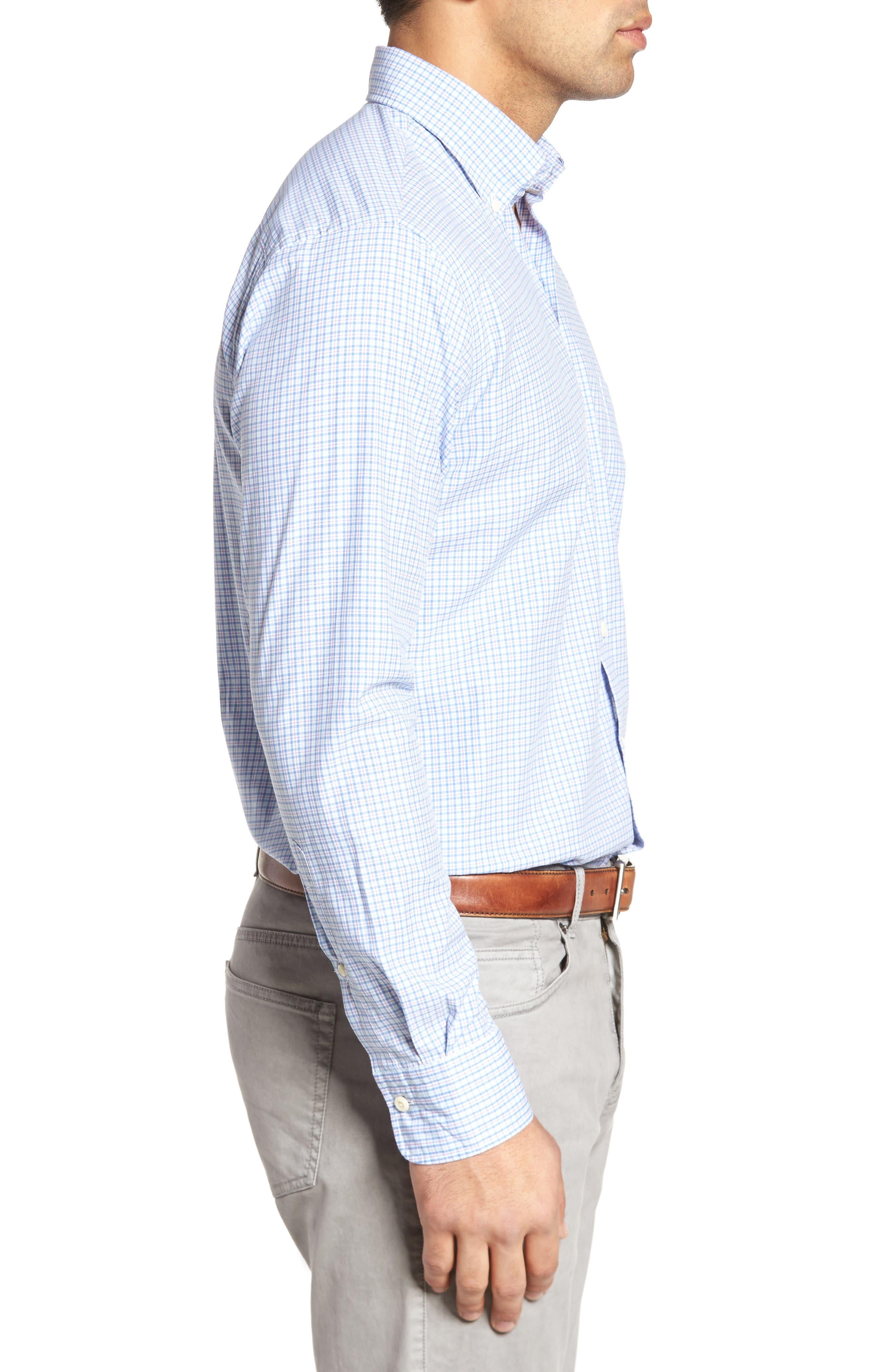 Crown Finish Regular Fit Check Sport Shirt,                             Alternate thumbnail 6, color,