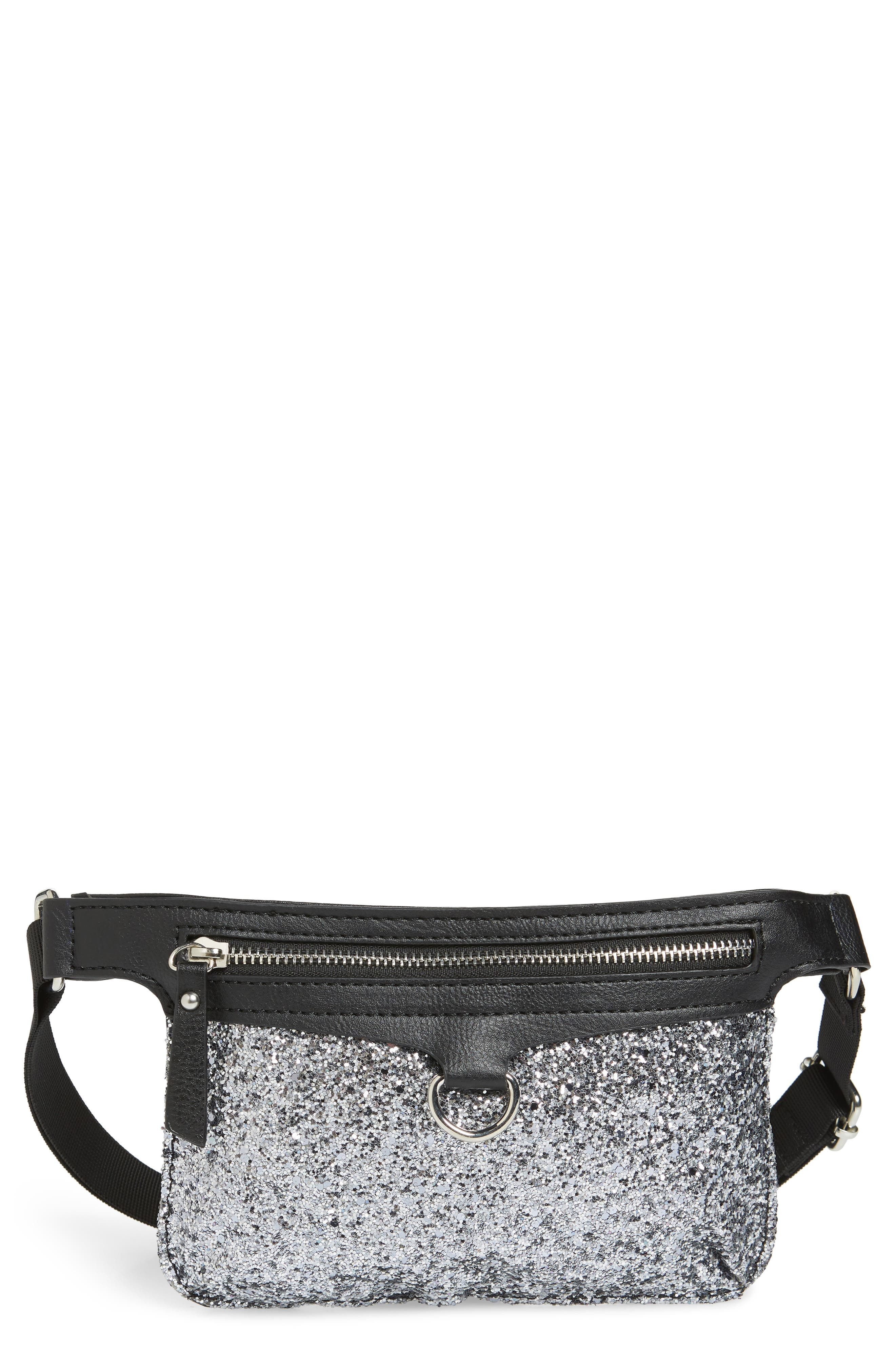Glitter Fanny Pack,                         Main,                         color, 001