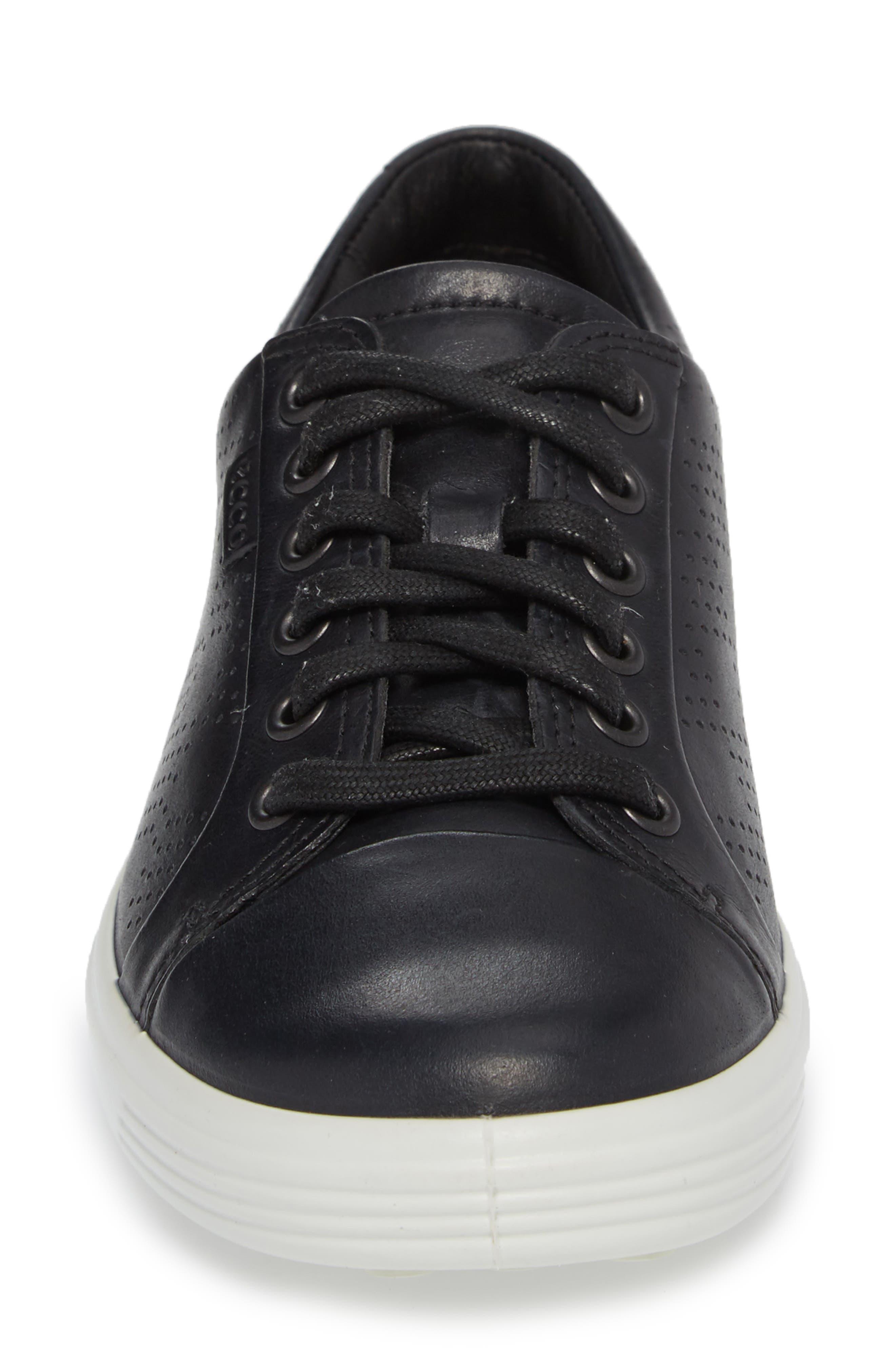 Soft 7 Sneaker,                             Alternate thumbnail 4, color,                             BLACK LEATHER