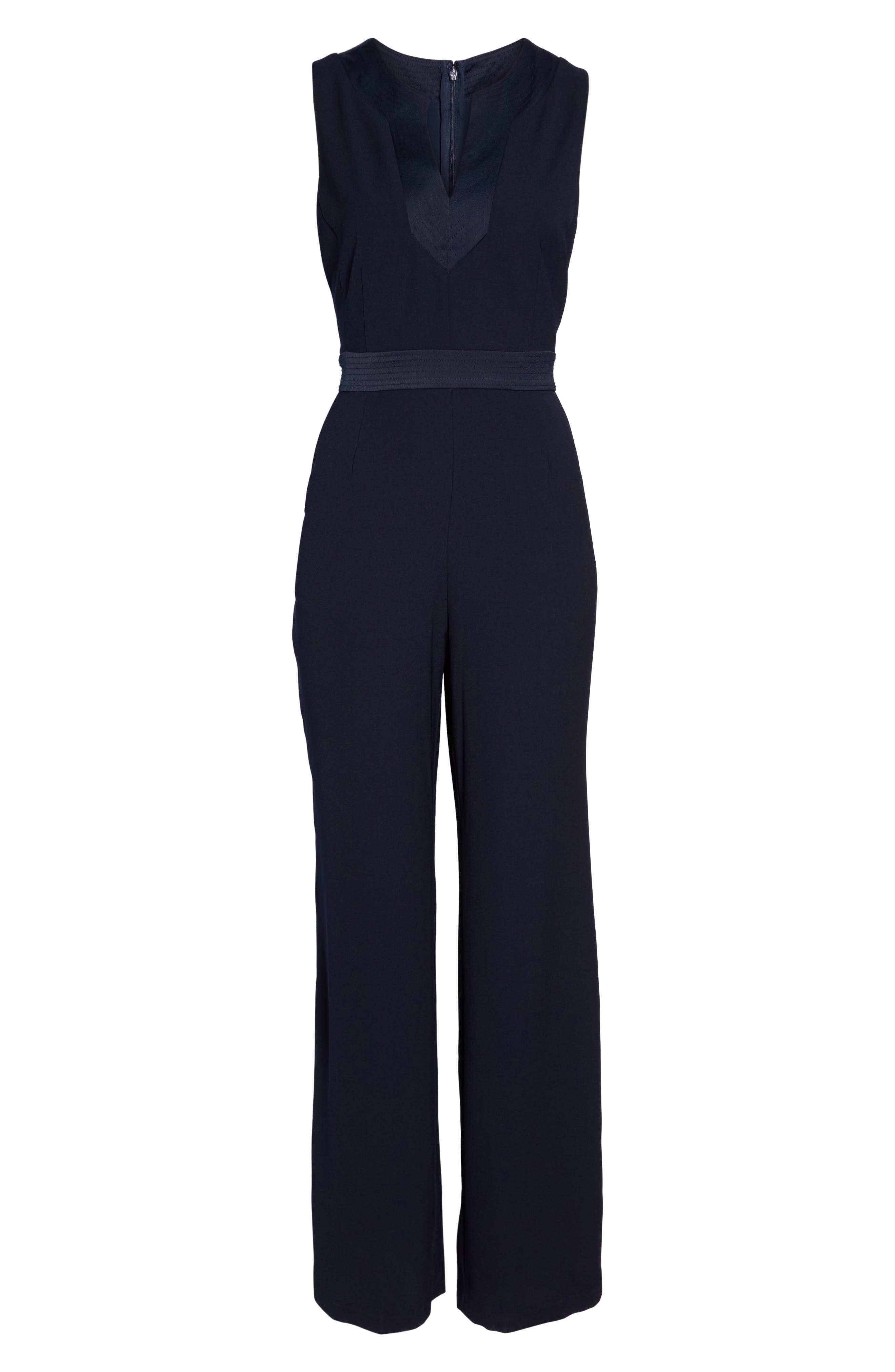 Sleeveless Jumpsuit,                             Alternate thumbnail 6, color,                             410