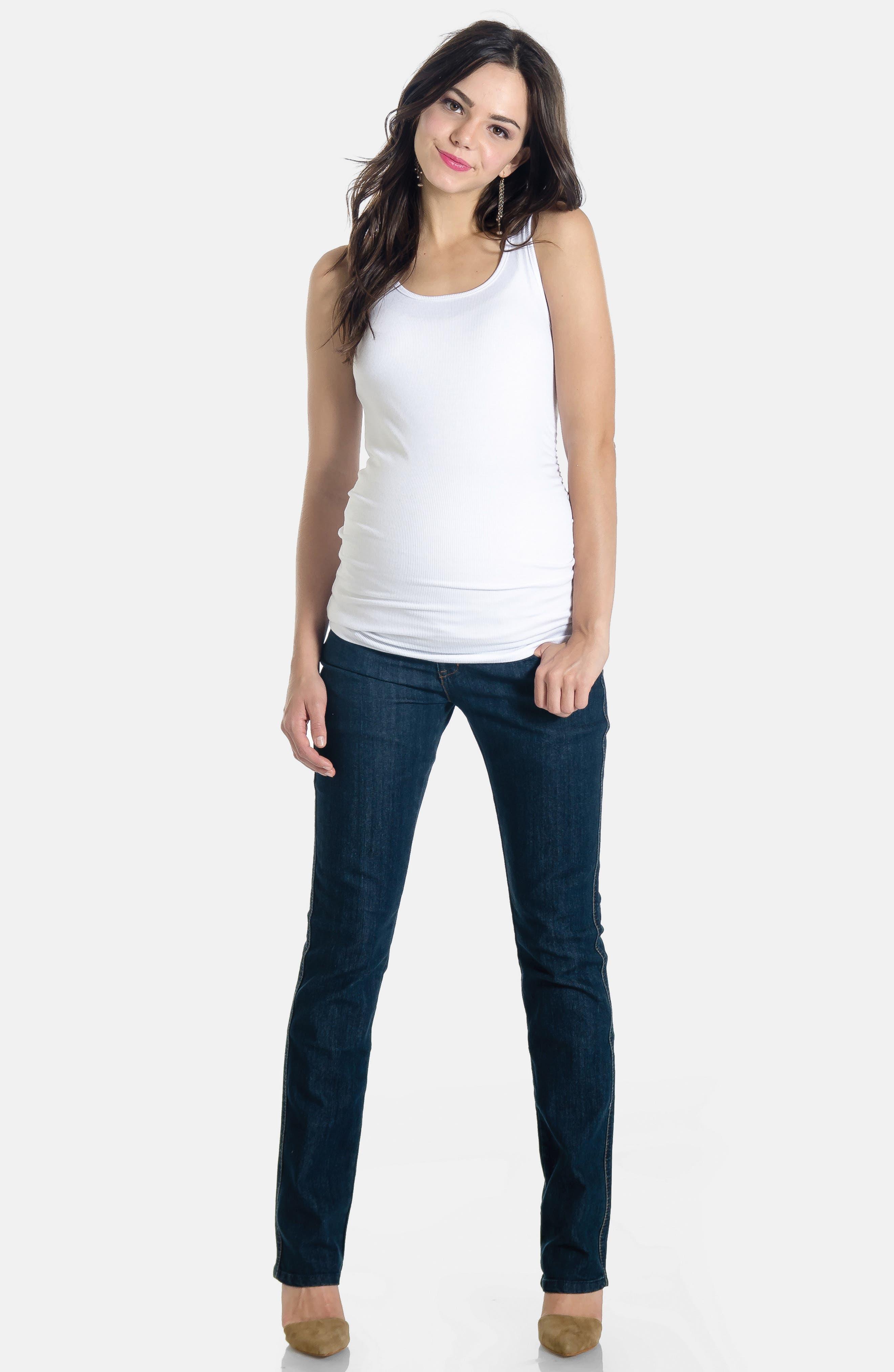 Maternity Jeans,                             Alternate thumbnail 2, color,                             400