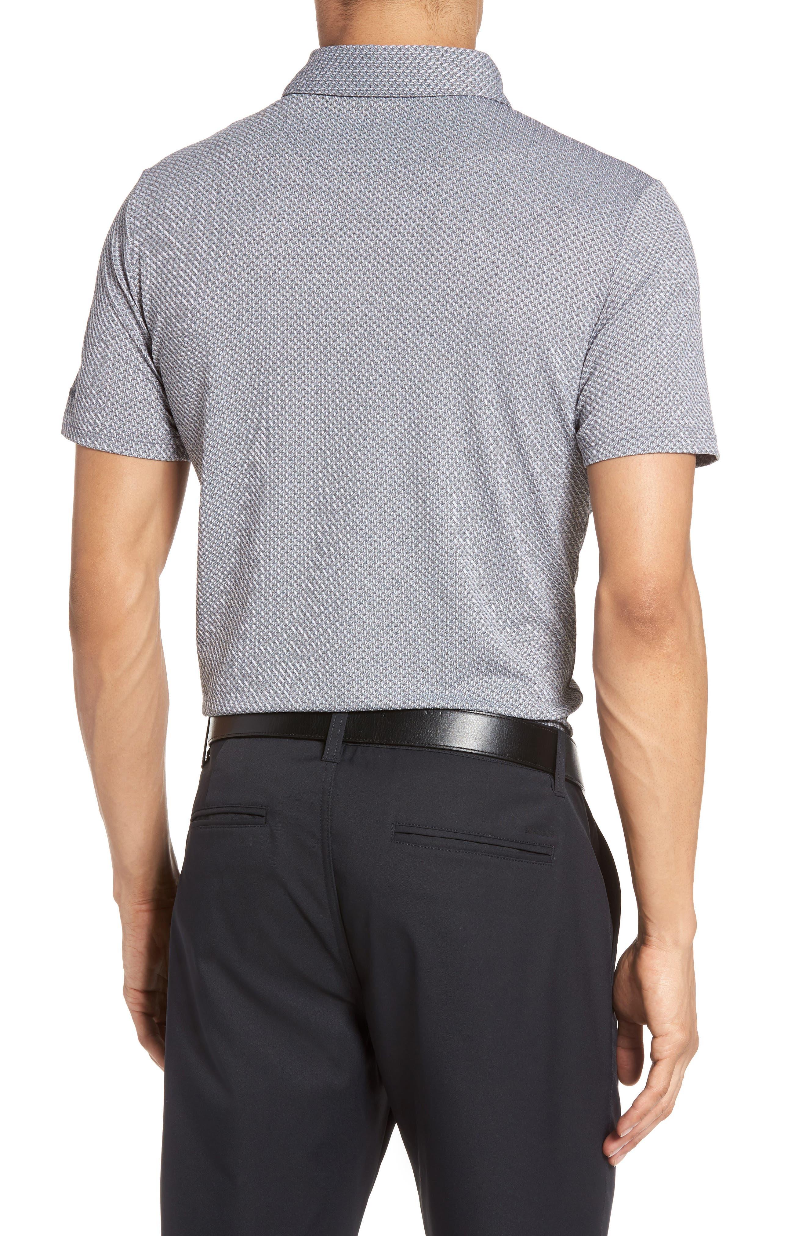 Flatiron Slim Fit Jacquard Jersey Polo,                             Alternate thumbnail 3, color,