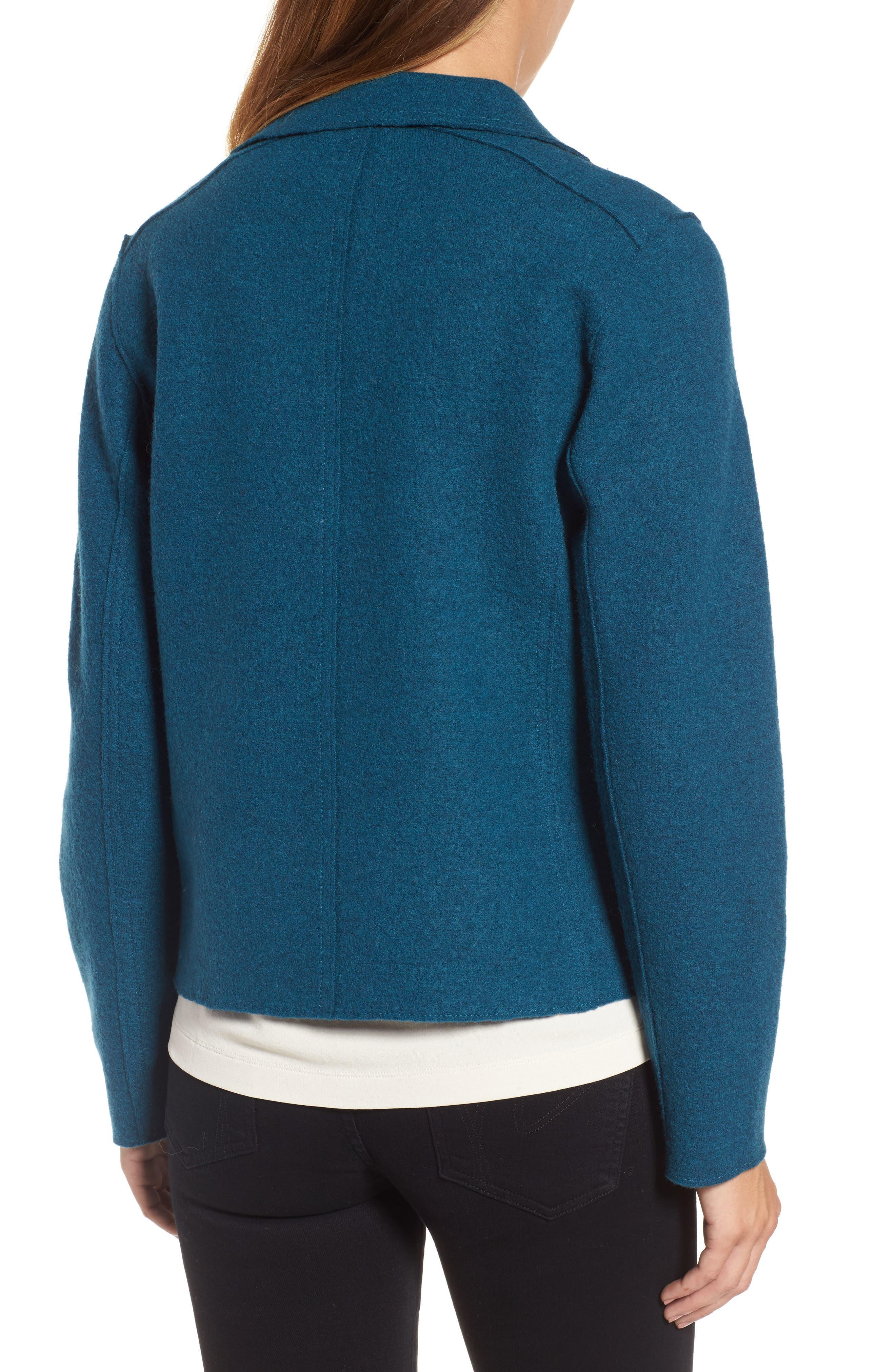 Boiled Wool Moto Jacket,                             Alternate thumbnail 7, color,