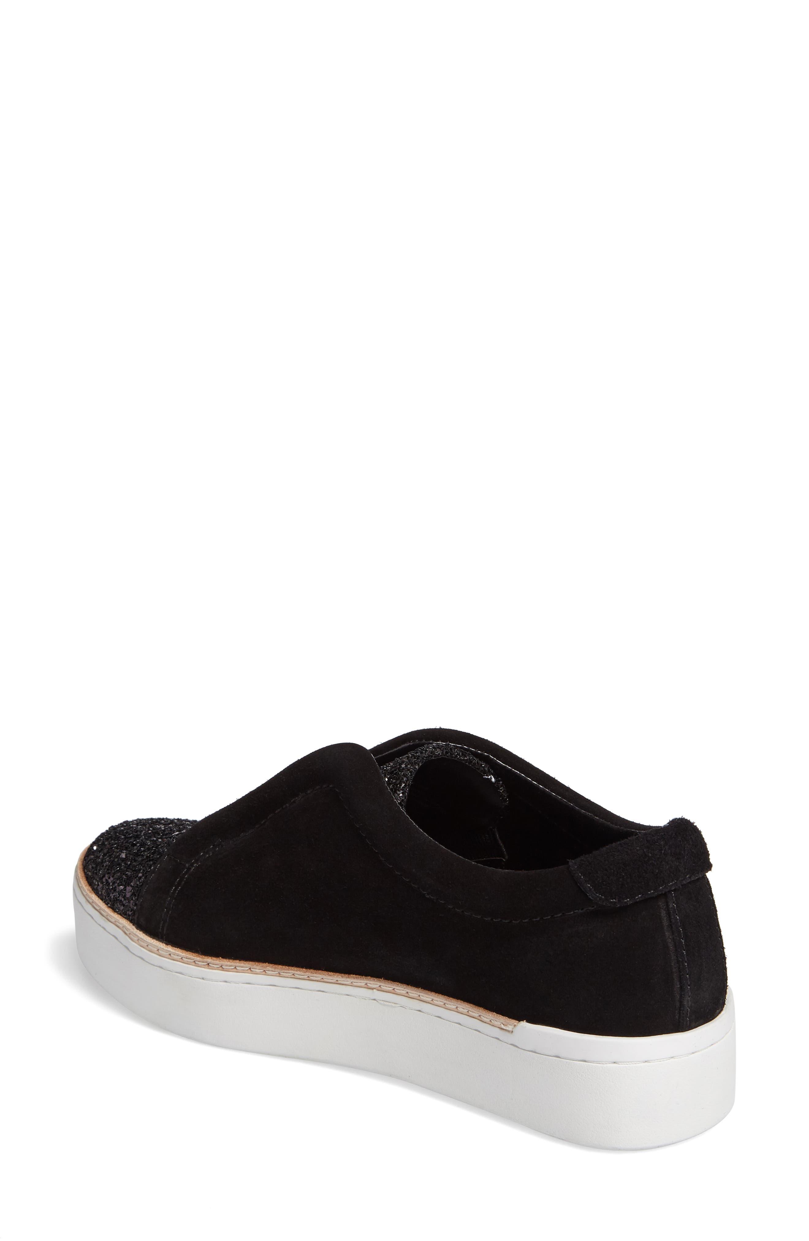 M4D3,                             Super Slip-On Sneaker,                             Alternate thumbnail 2, color,                             BLACK GLITTER LEATHER
