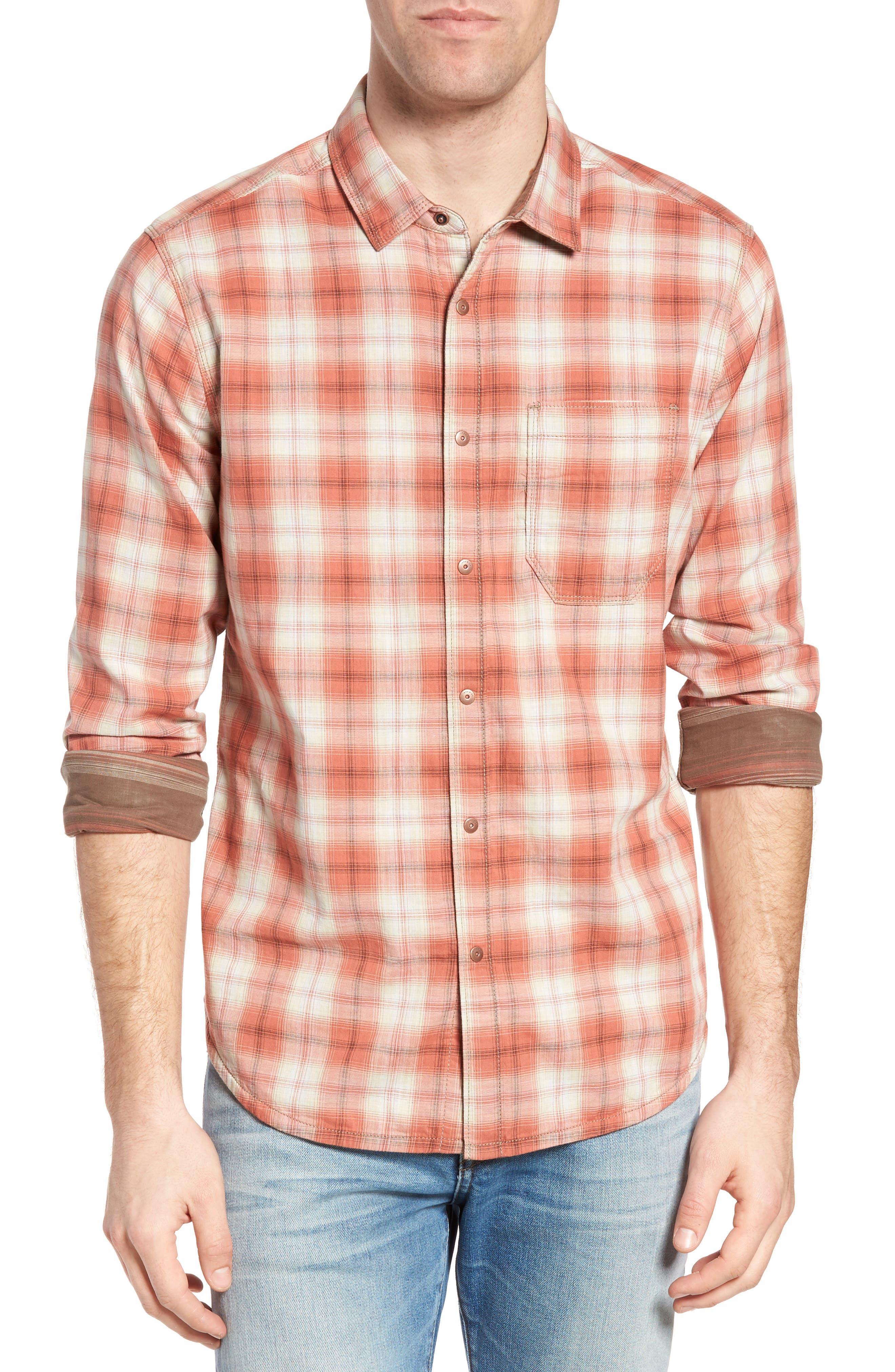Vogel Regular Fit Reversible Plaid Sport Shirt,                         Main,                         color, 201