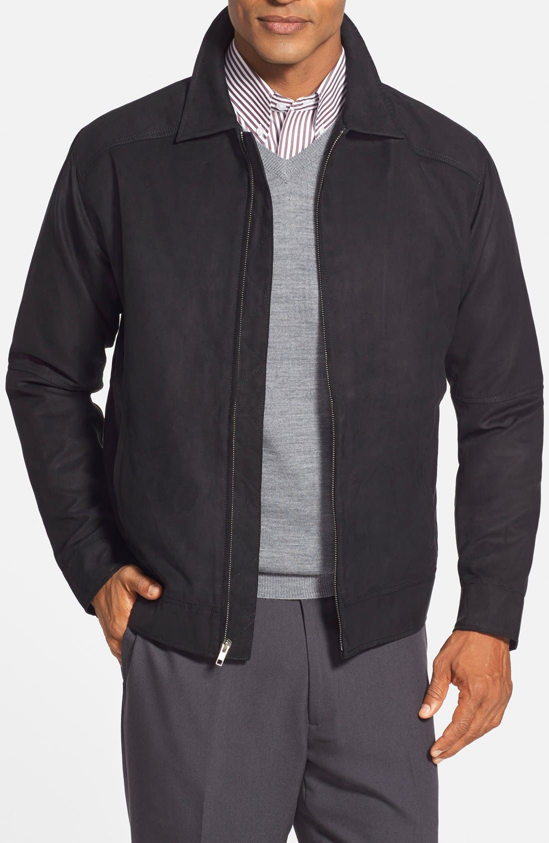 'Roosevelt' Classic Fit Water Resistant Full Zip Jacket,                         Main,                         color, 001
