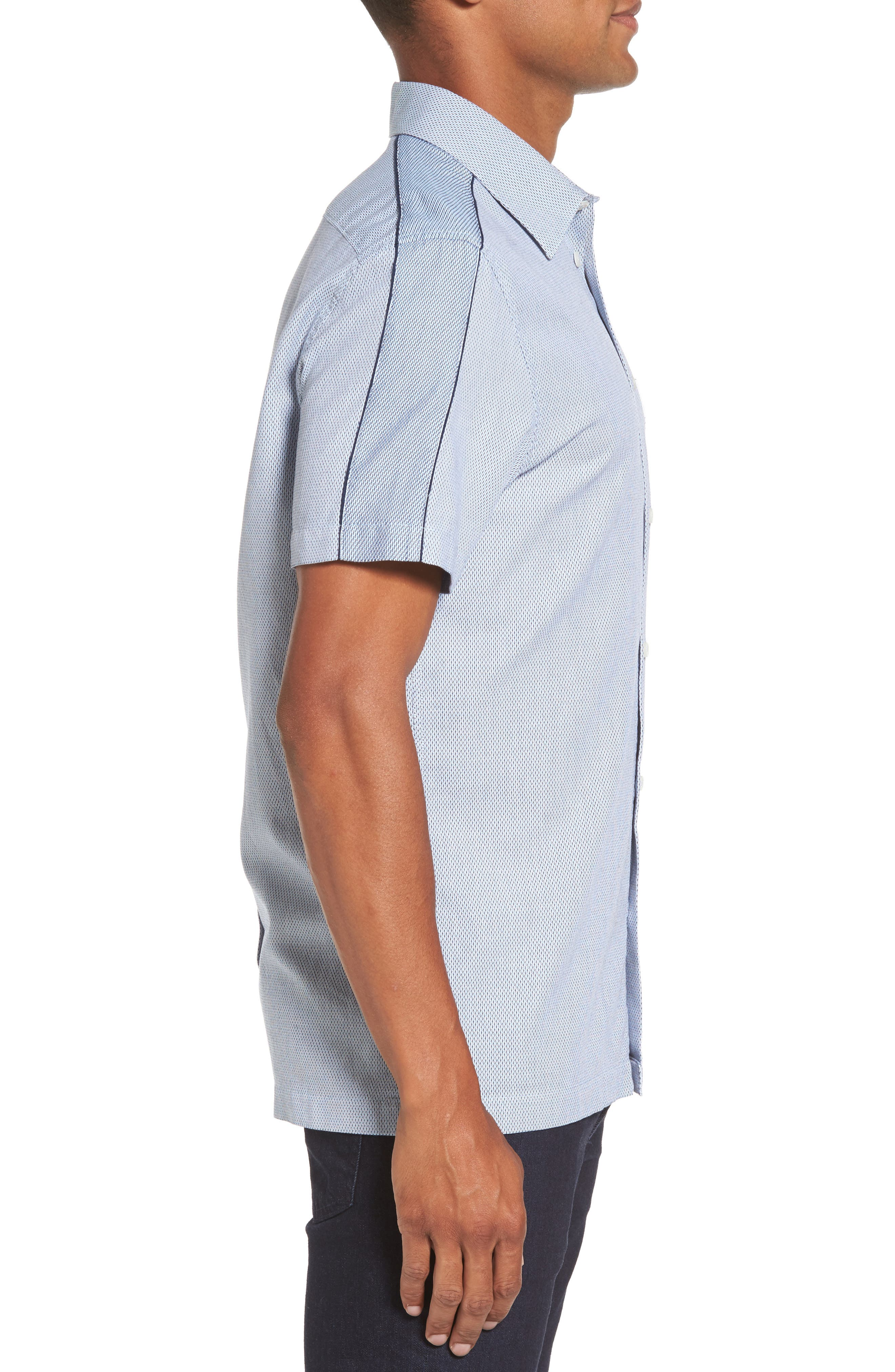 Dobby Short Sleeve Shirt,                             Alternate thumbnail 3, color,                             450