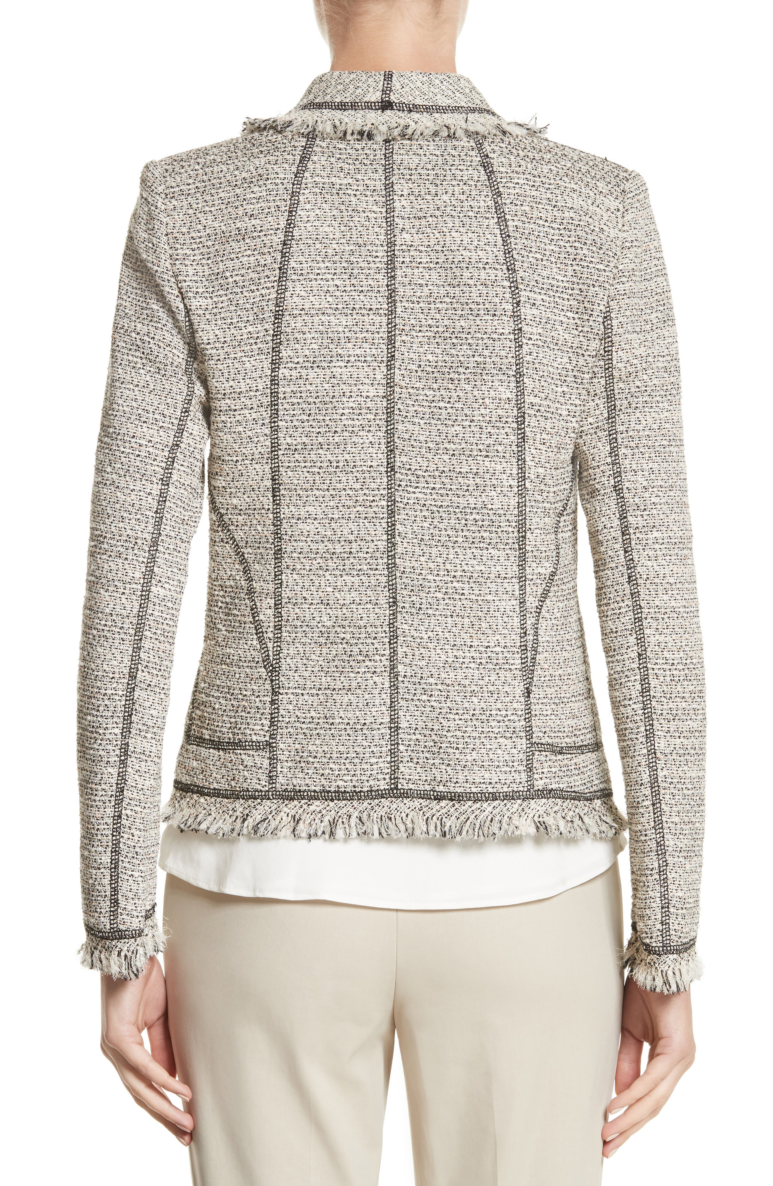 Eugena Drape Tweed Jacket,                             Alternate thumbnail 2, color,                             255