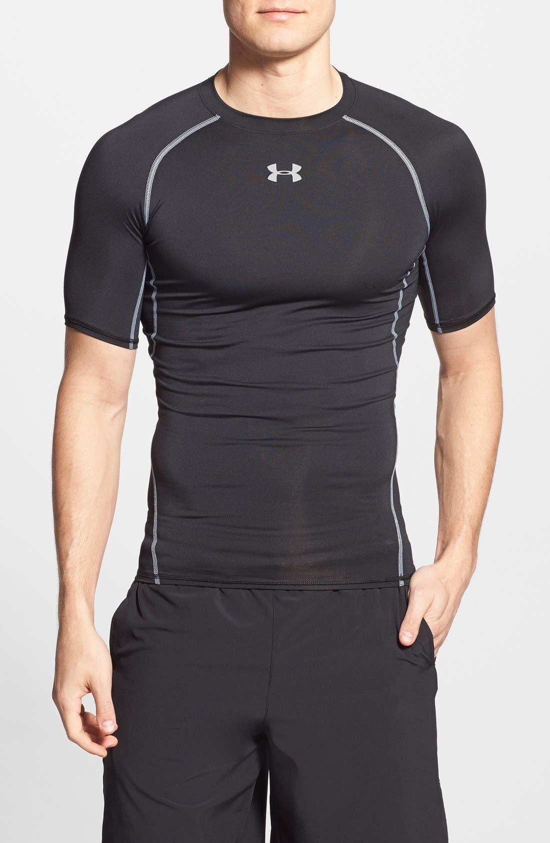 Under Armour Heatgear Compression Fit T-Shirt, Black
