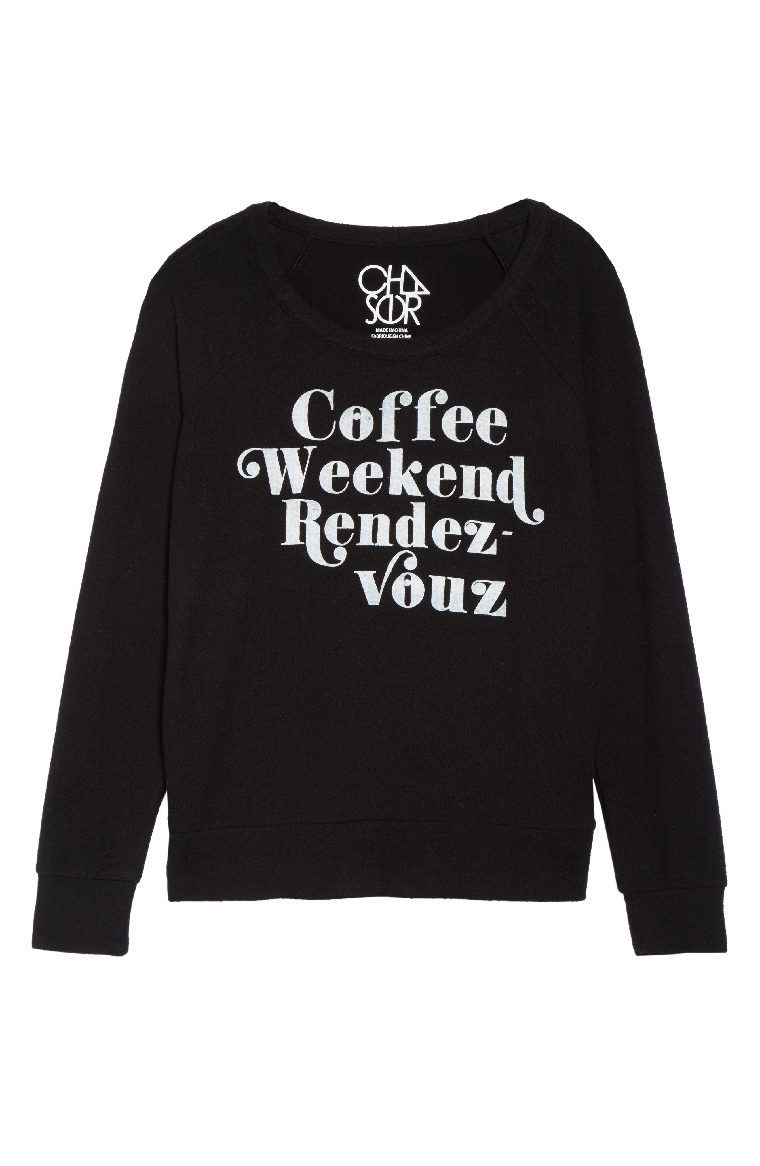 Coffee Weekend Rendezvous Pullover,                             Alternate thumbnail 6, color,                             001