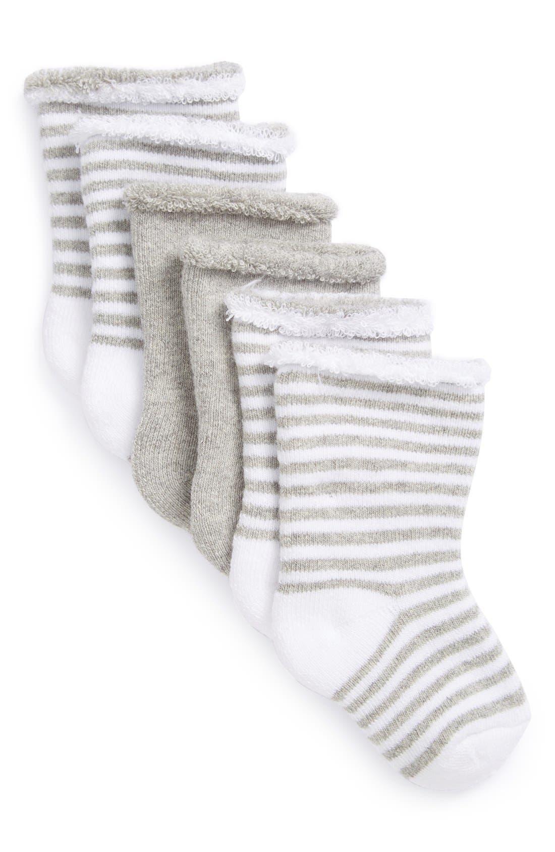 3-Pack Crew Socks,                             Main thumbnail 1, color,                             GREY ASH HEATHER PACK