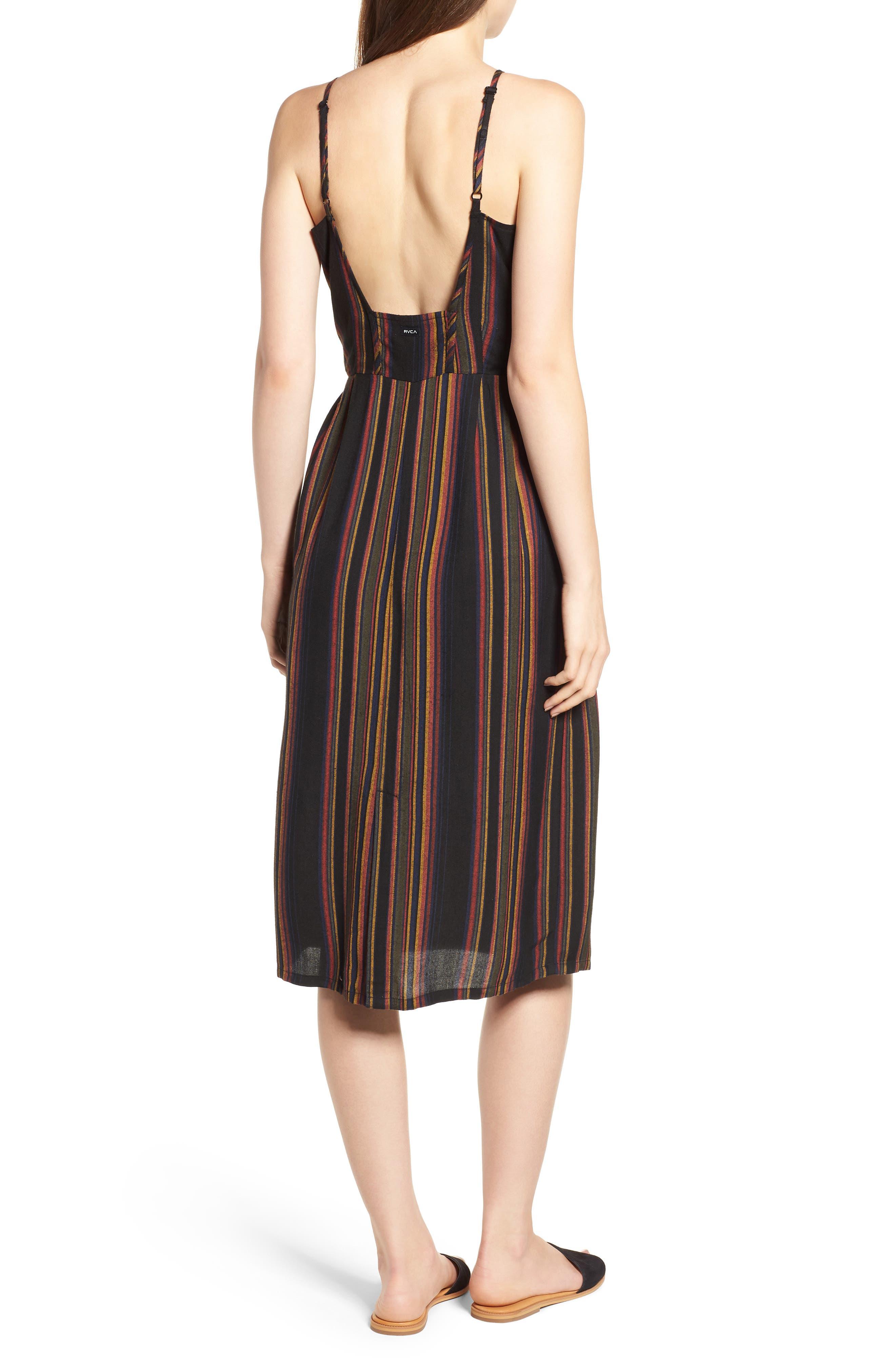Medway Stripe Midi Dress,                             Alternate thumbnail 2, color,                             001