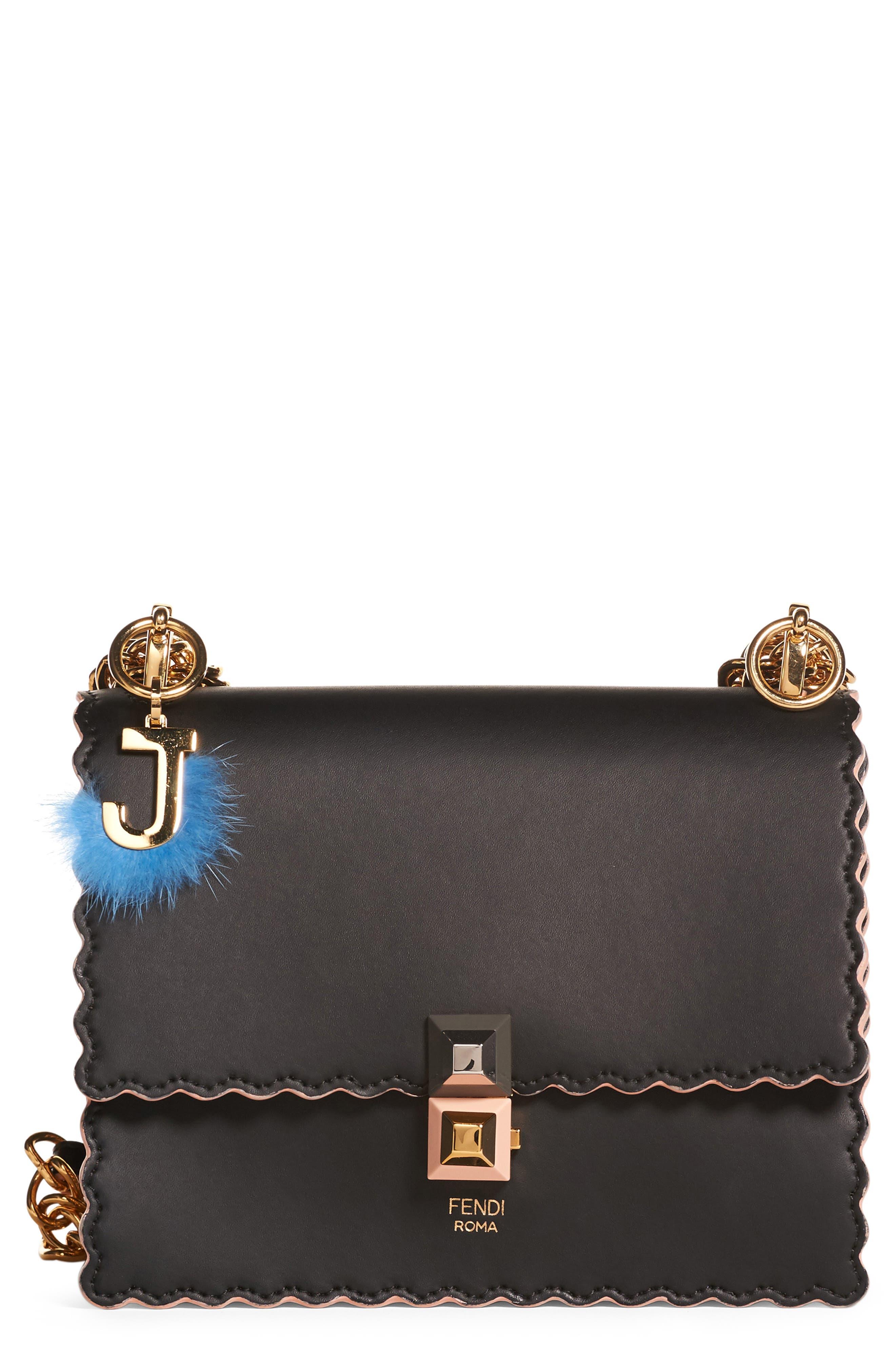 Small Kan I Scallop Leather Shoulder Bag,                             Main thumbnail 2, color,