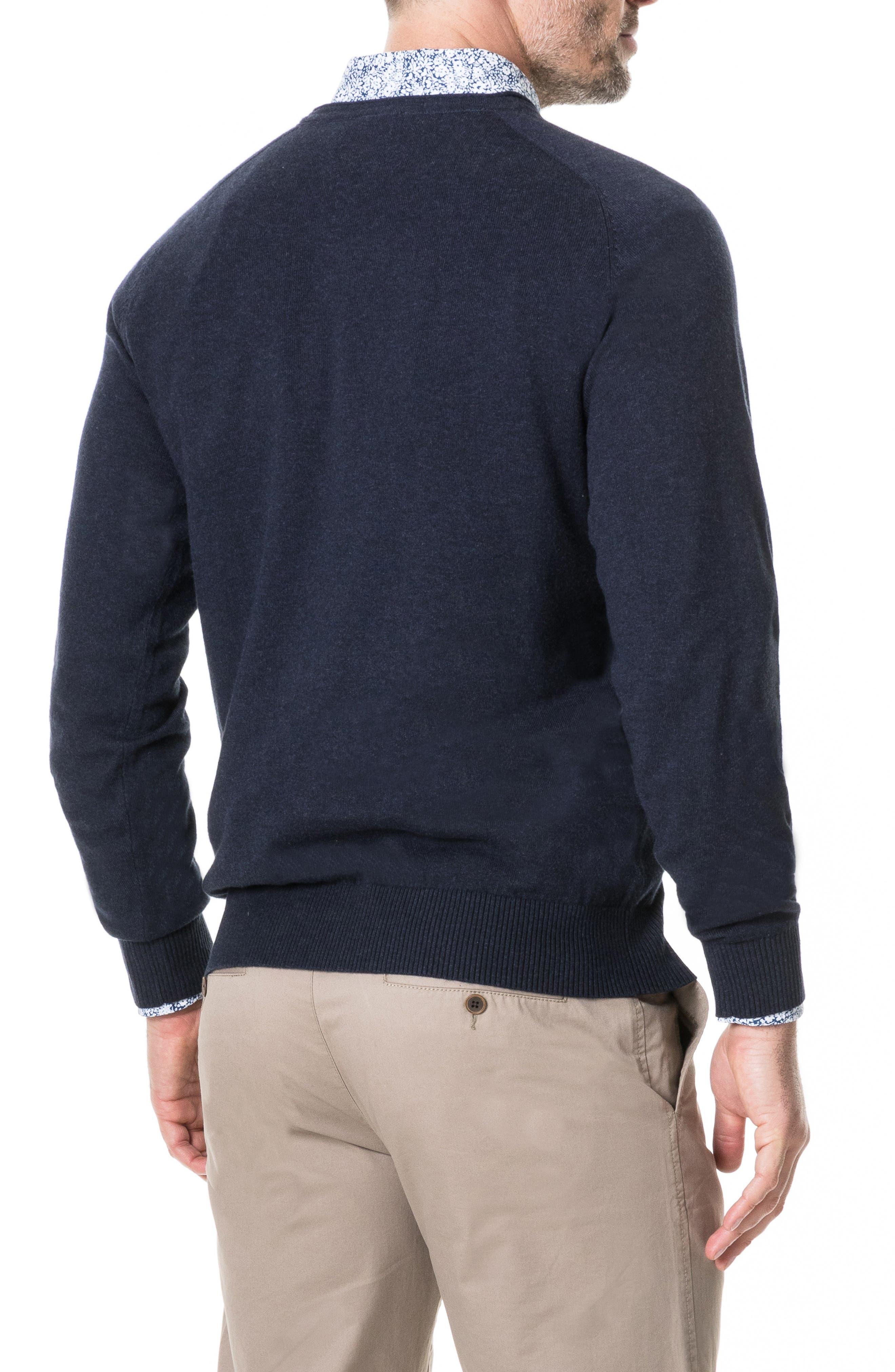 Arbors Cotton V-Neck Sweater,                             Alternate thumbnail 6, color,