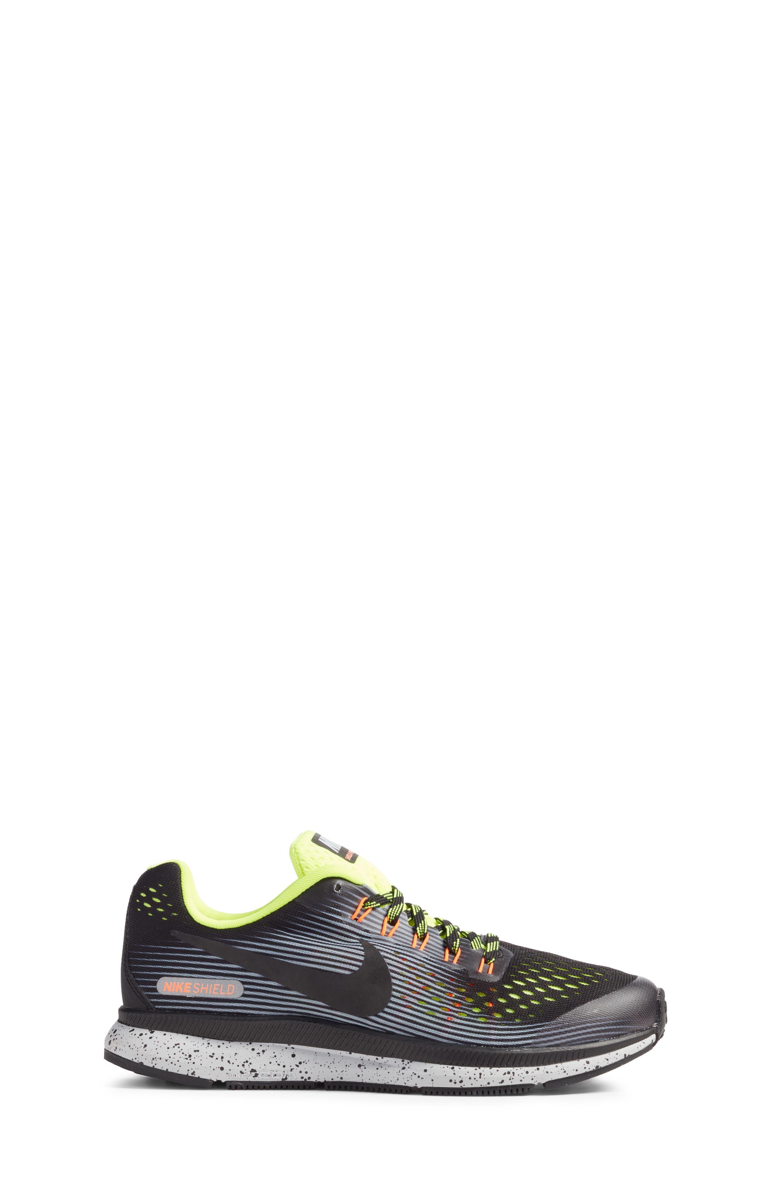 Zoom Pegasus 34 Water Repellent Shield Sneaker,                             Alternate thumbnail 3, color,                             001