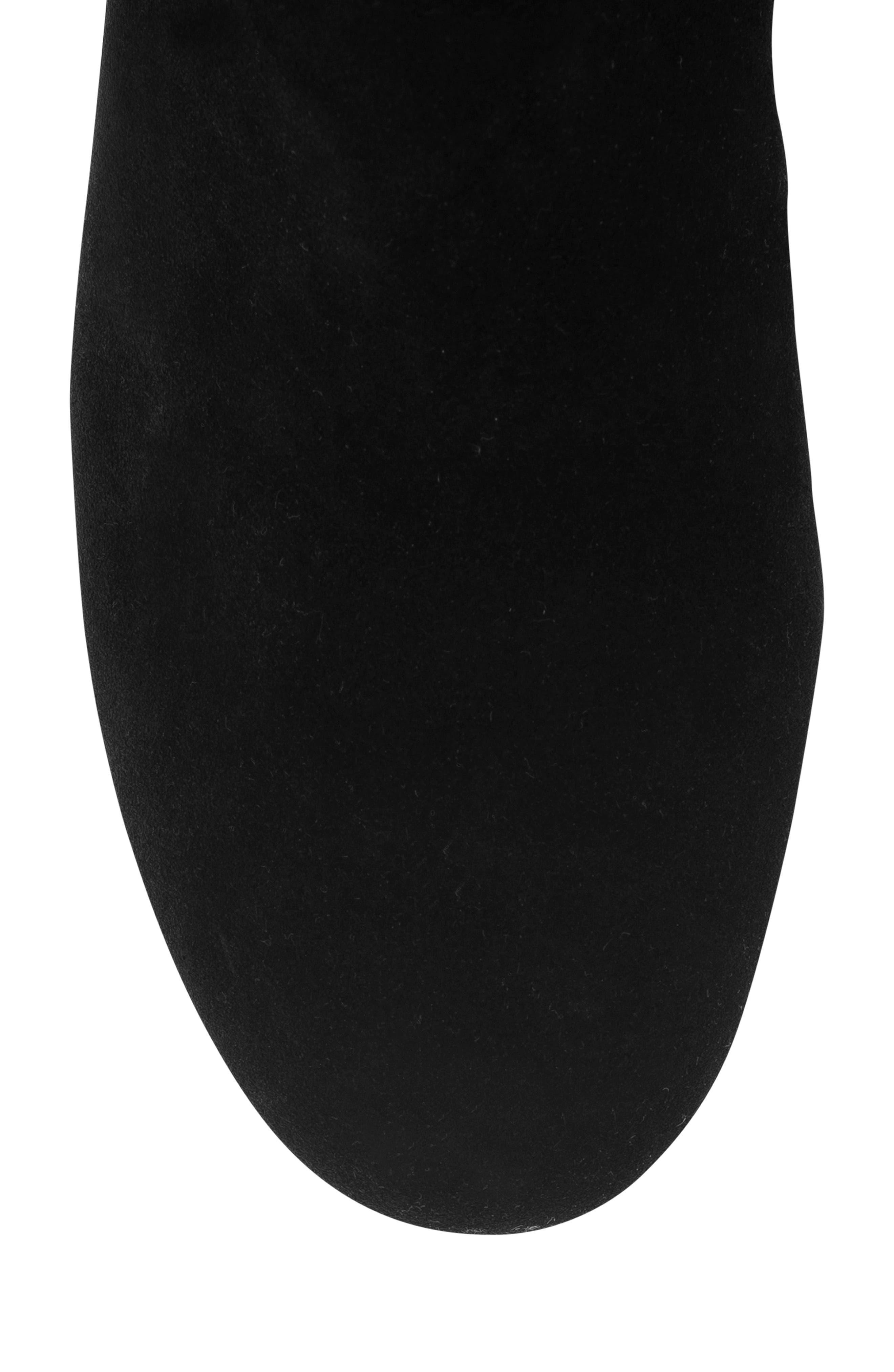 Mercy Waterproof Wedge Knee High Boot,                             Alternate thumbnail 5, color,                             BLACK SUEDE