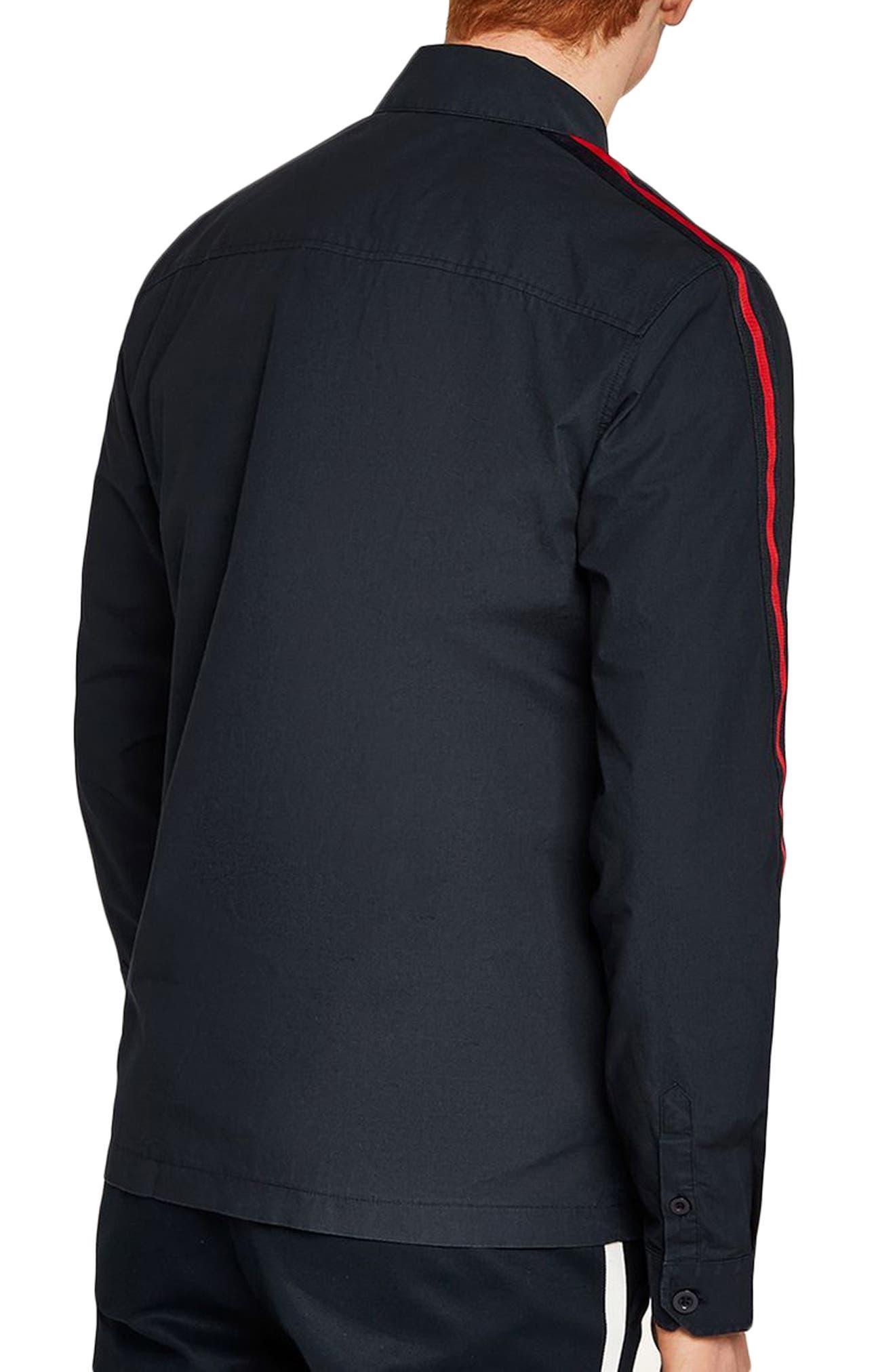 Stripe Sleeve Shirt Jacket,                             Alternate thumbnail 2, color,                             411