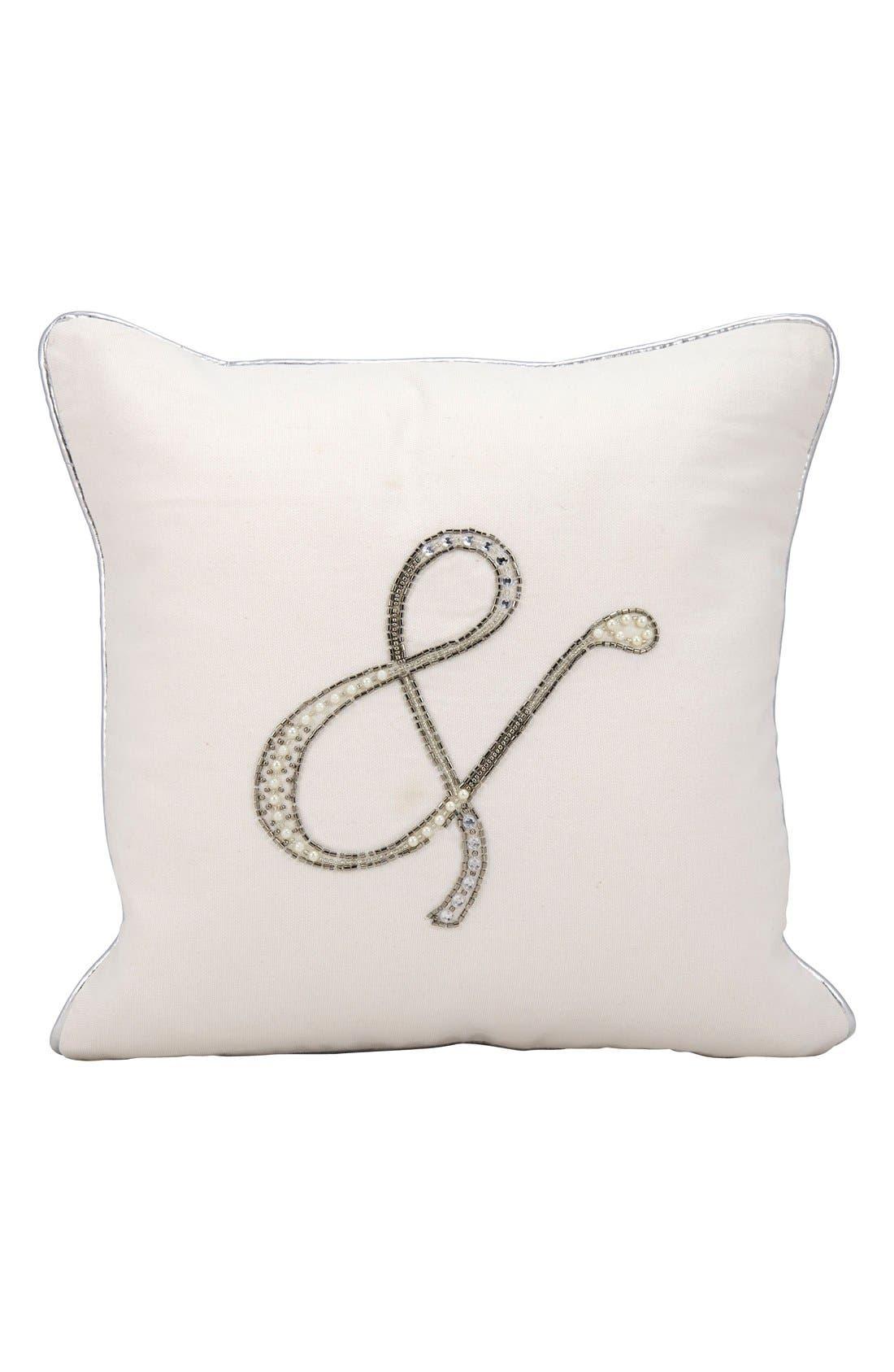 Embellished Wedding Pillow,                             Main thumbnail 1, color,                             100