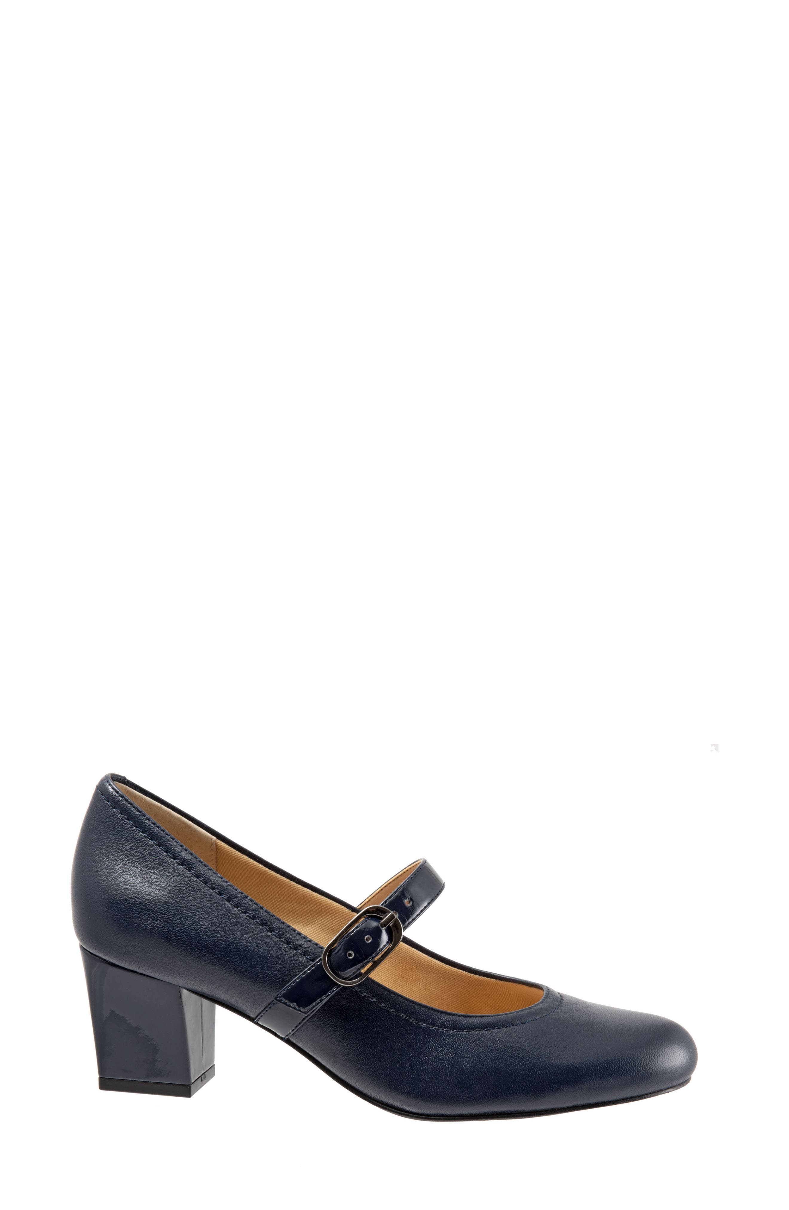 'Candice' Mary Jane Pump,                             Alternate thumbnail 3, color,                             NAVY LEATHER