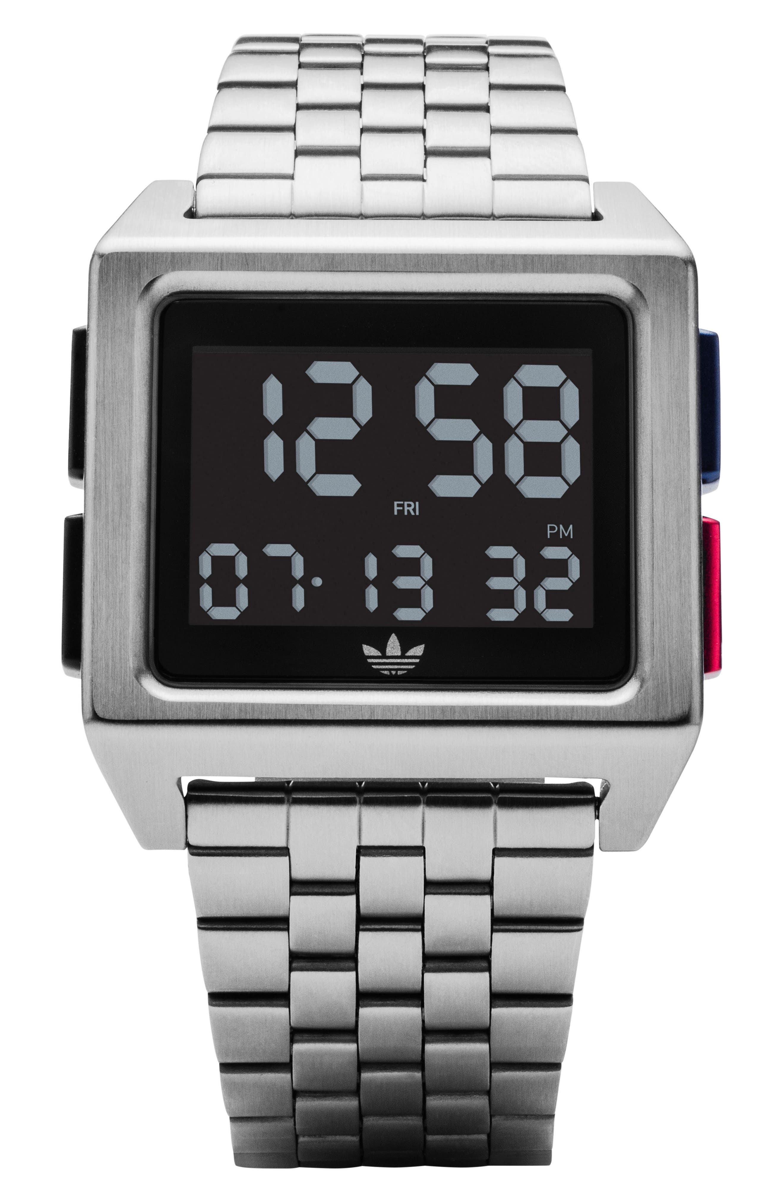 Archive Digital Bracelet Watch, 36mm,                             Main thumbnail 1, color,                             SILVER