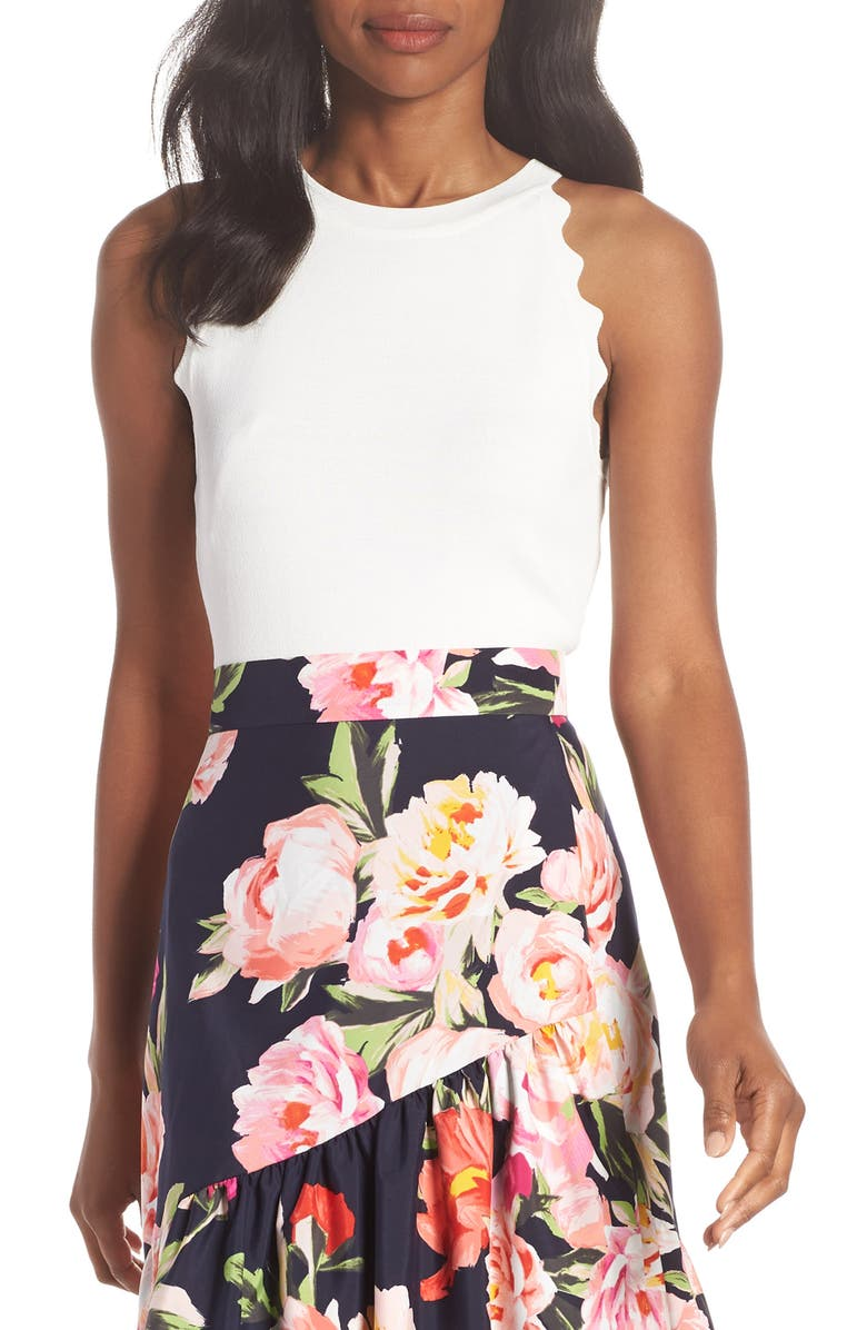 Eliza J Floral Print Ruffle Skirt | Nordstrom