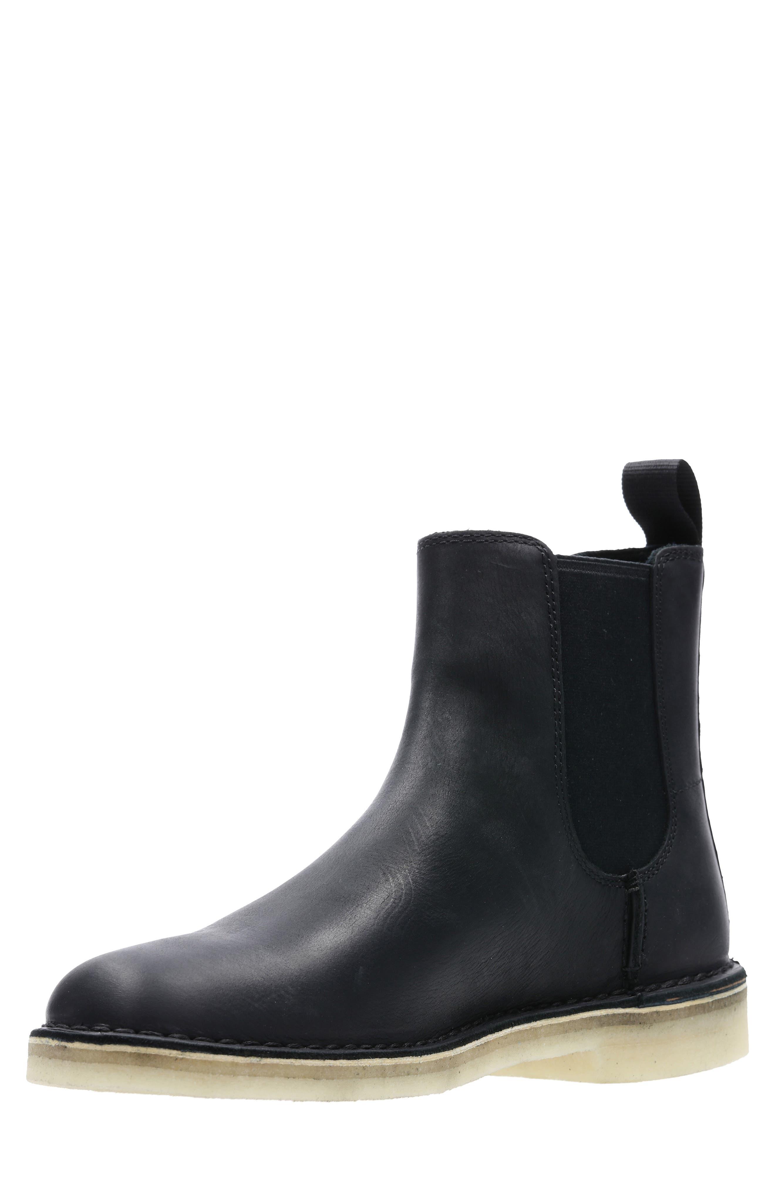 Desert Peak Chelsea Boot,                             Alternate thumbnail 5, color,                             BLACK/BLACK LEATHER
