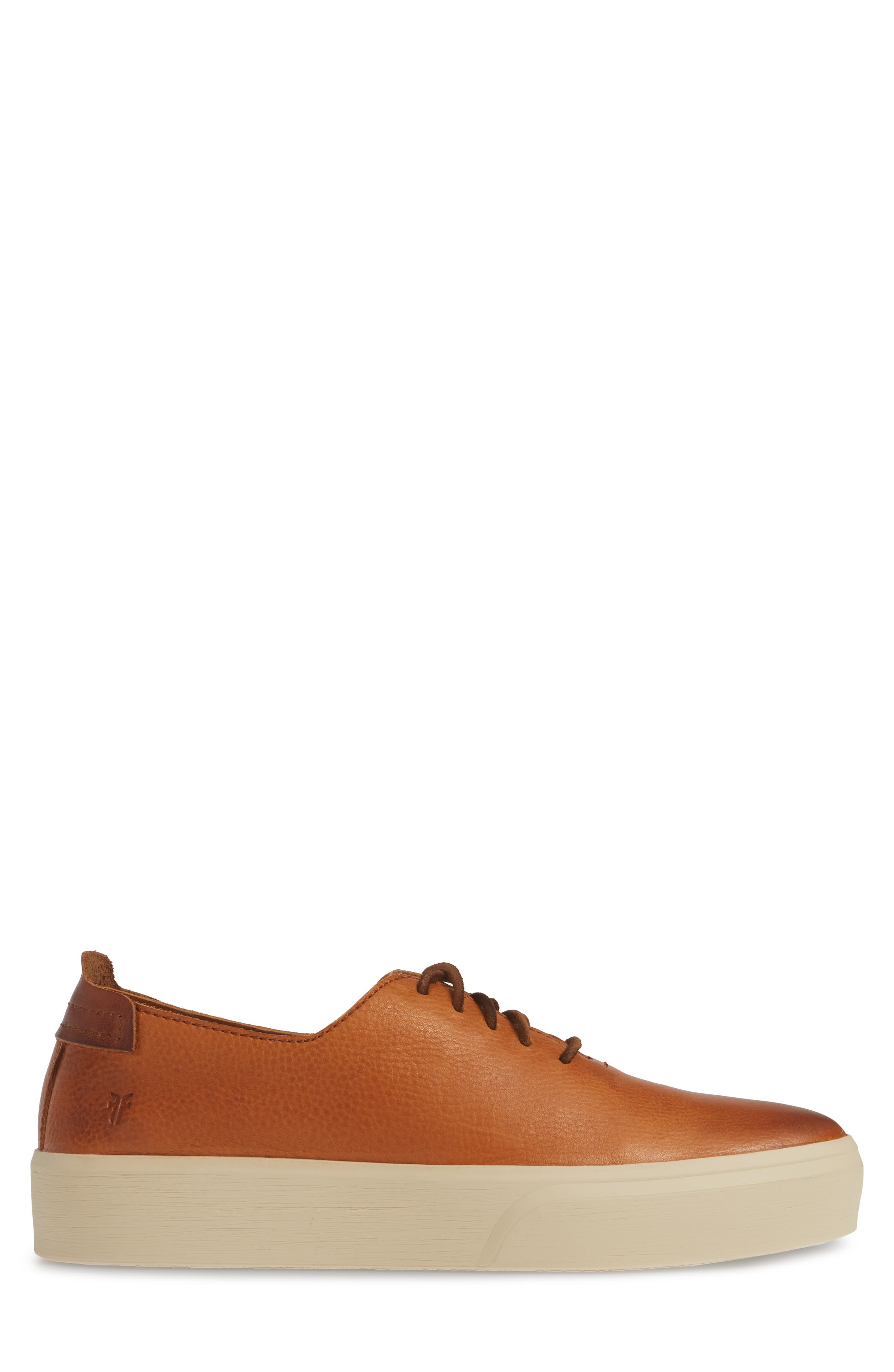 FRYE,                             Beacon Sneaker,                             Alternate thumbnail 3, color,                             CARAMEL LEATHER