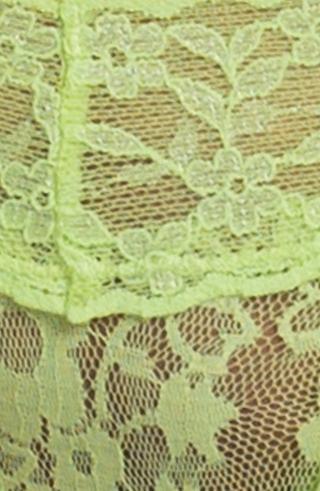 Lace Waist Thong,                             Alternate thumbnail 24, color,