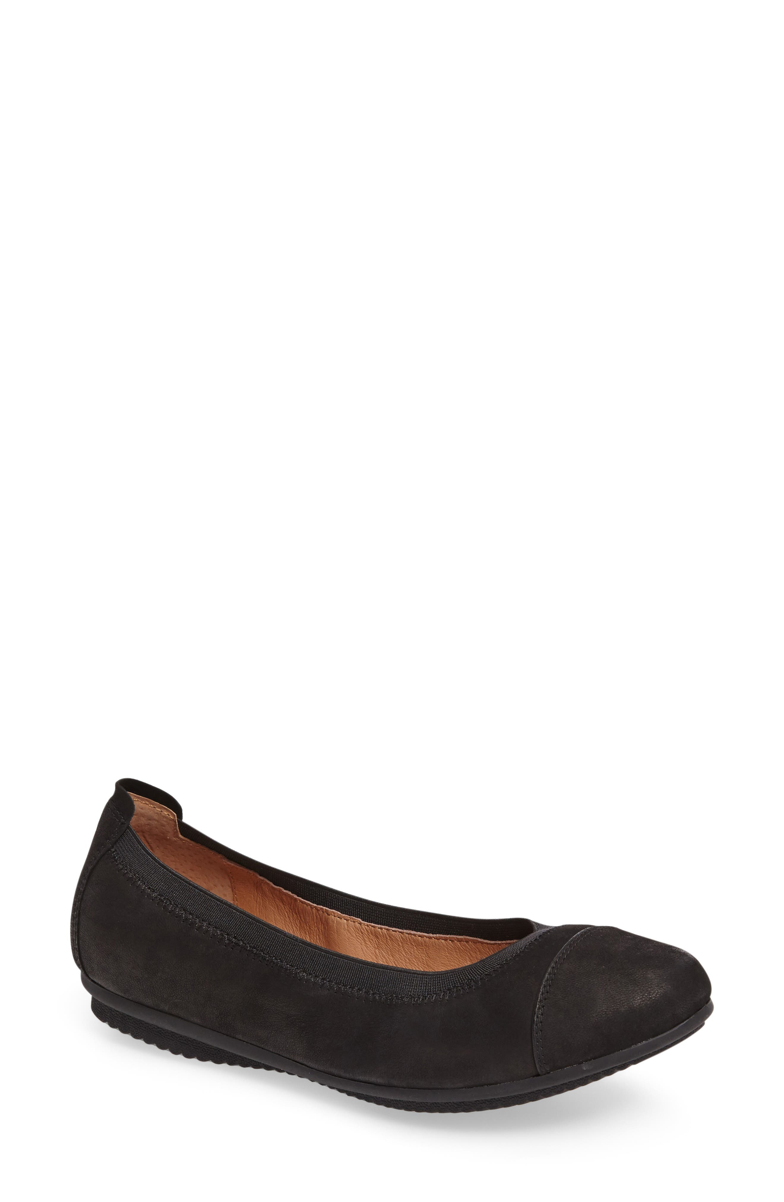 Pippa 07 Flat,                         Main,                         color, BLACK OIL LEATHER
