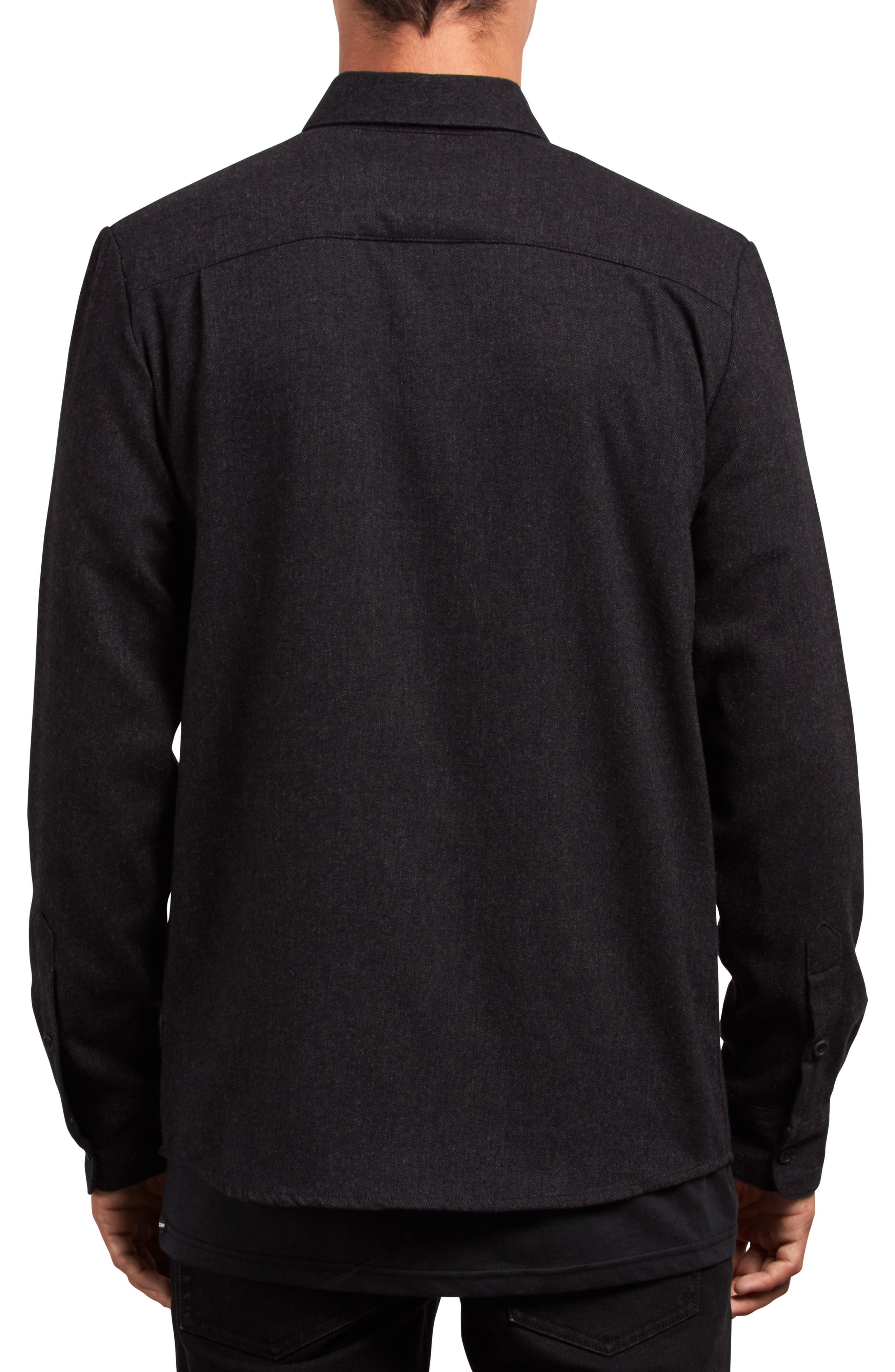 Caden Woven Shirt,                             Alternate thumbnail 2, color,                             BLACK