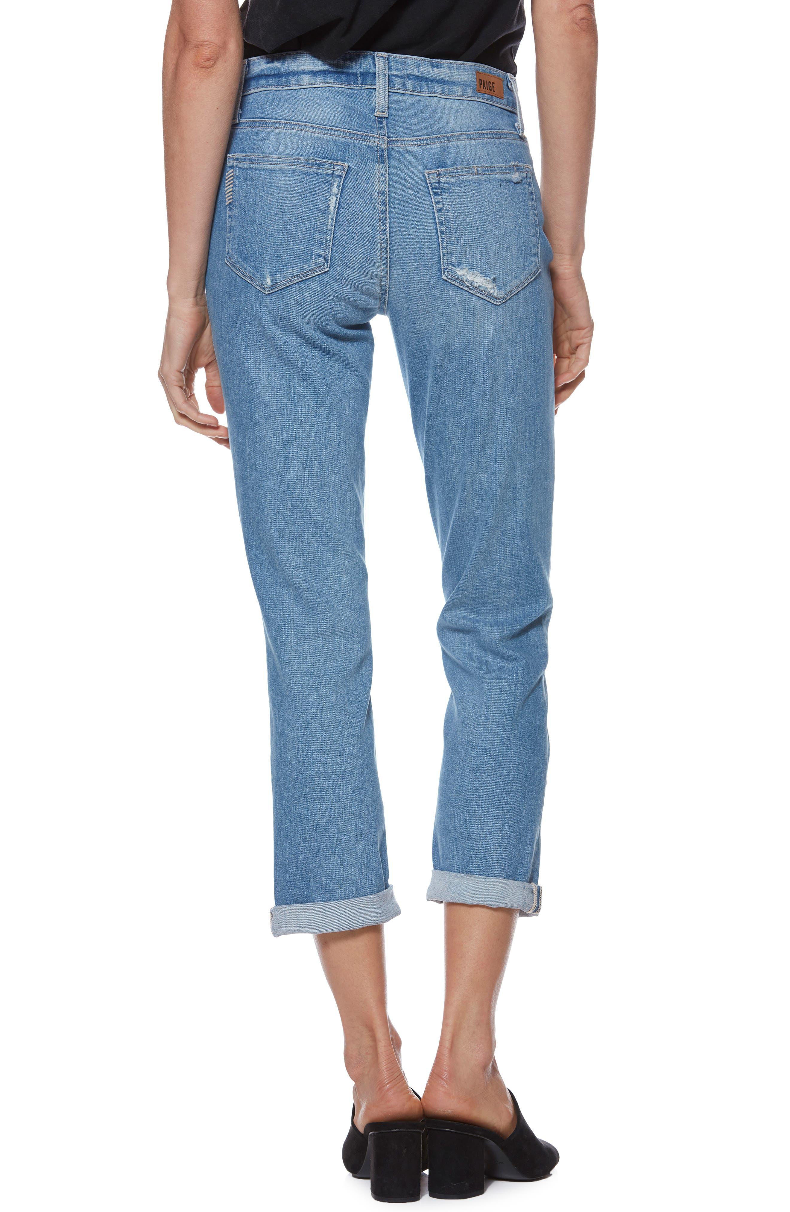 Transcend Vintage - Jimmy Jimmy High Waist Crop Boyfriend Jeans,                             Alternate thumbnail 2, color,                             ATTERBURY