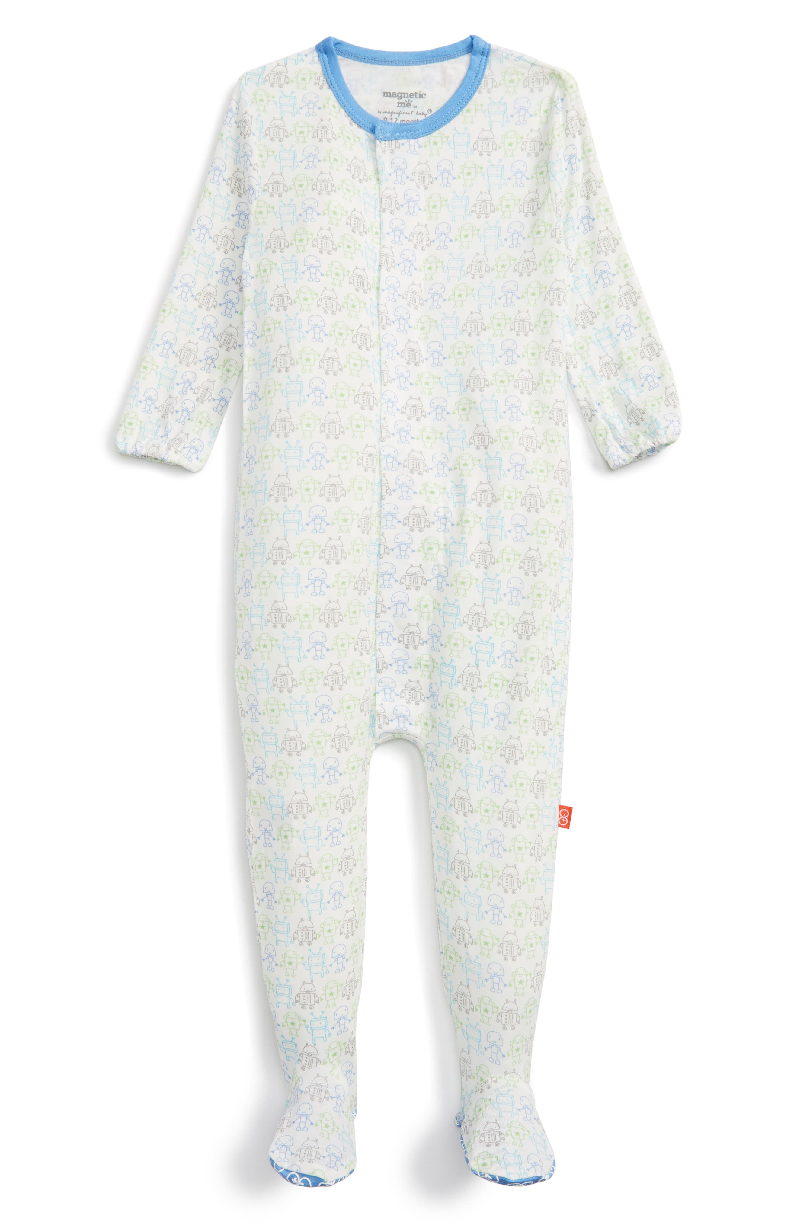Print Fitted One-Piece Footie Pajamas,                             Main thumbnail 2, color,