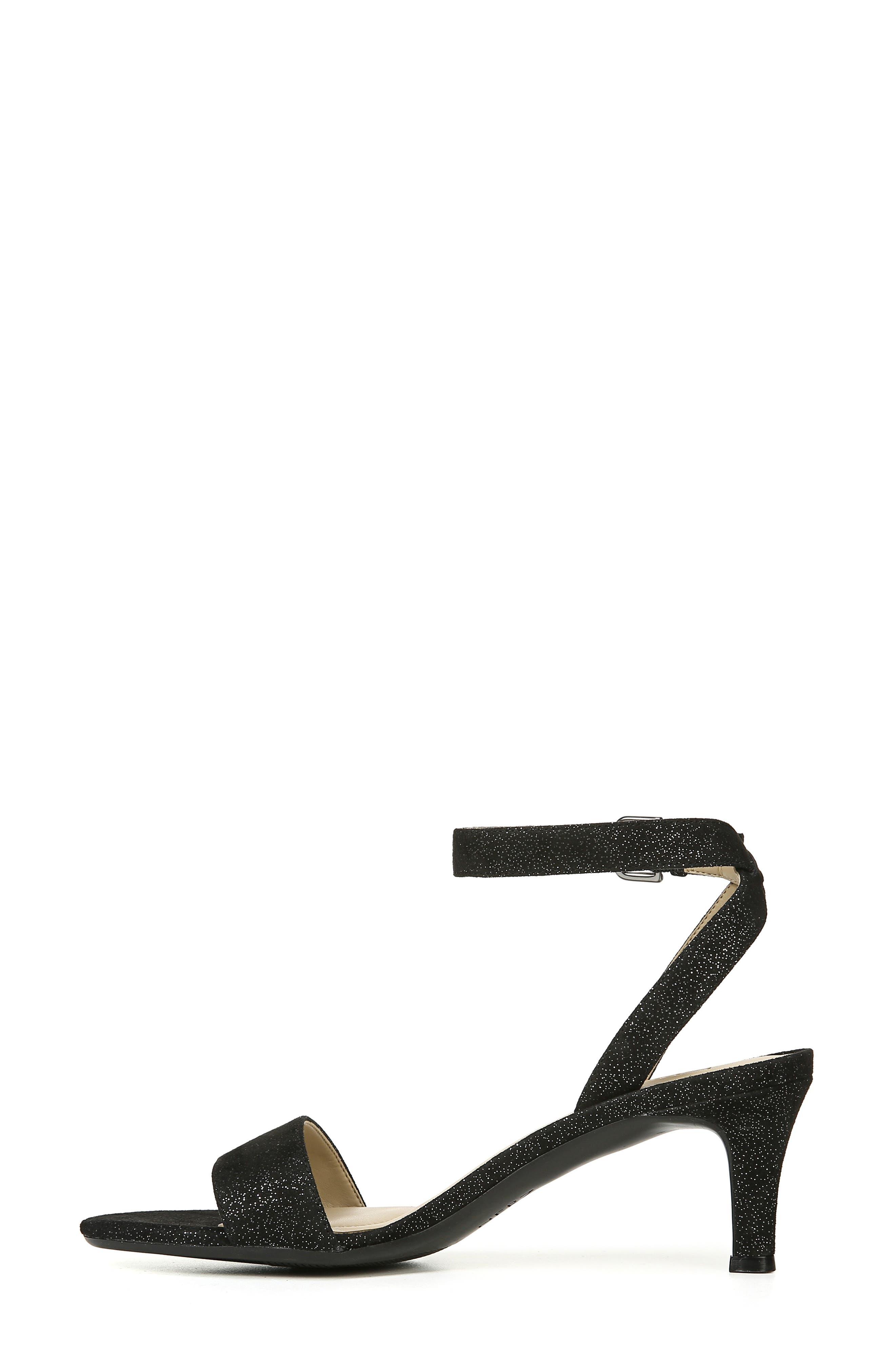 Tinda Sandal,                             Alternate thumbnail 8, color,                             BLACK GLITTER SUEDE