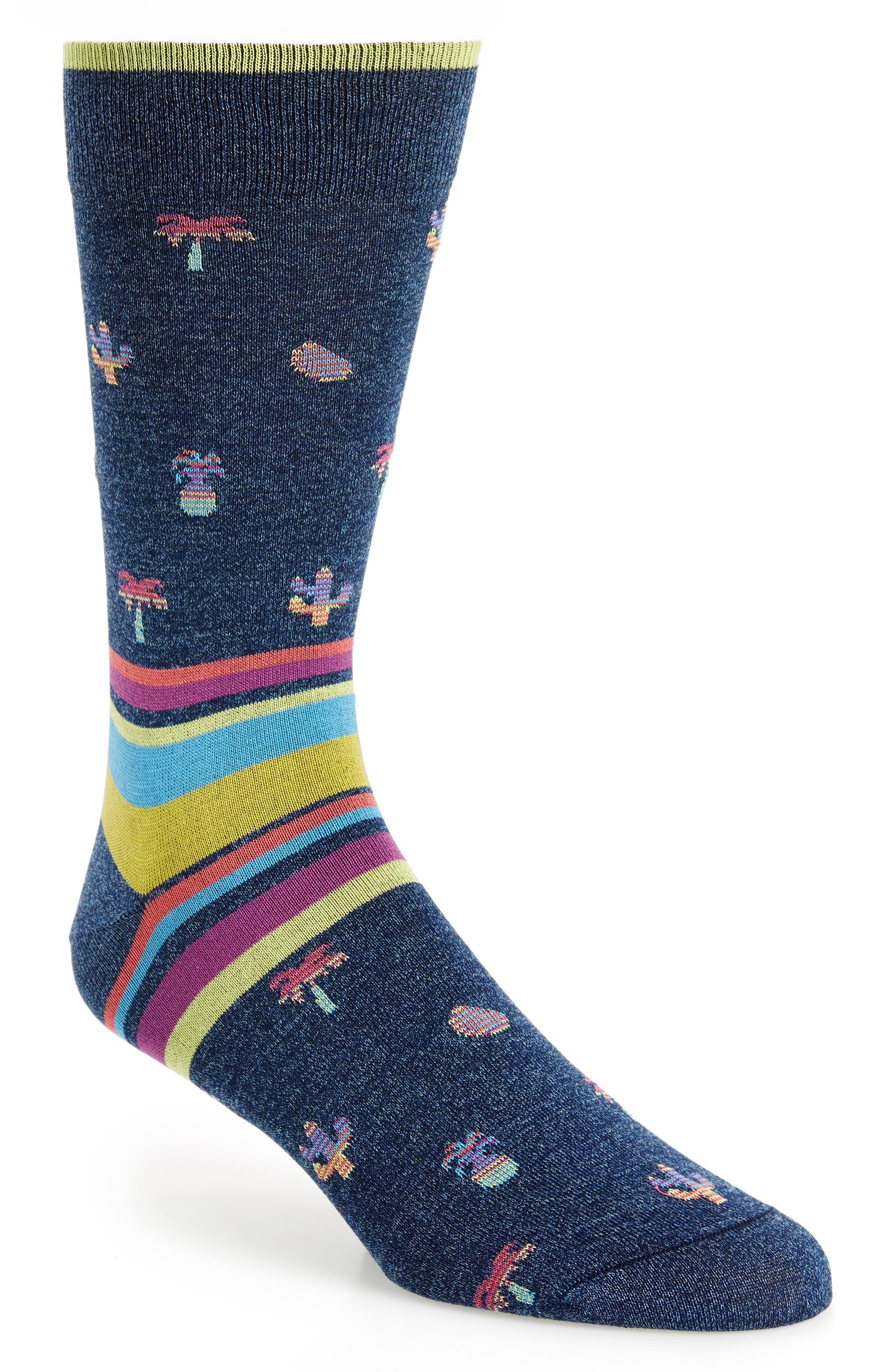 Mercerized Cotton Blend Socks,                             Main thumbnail 2, color,